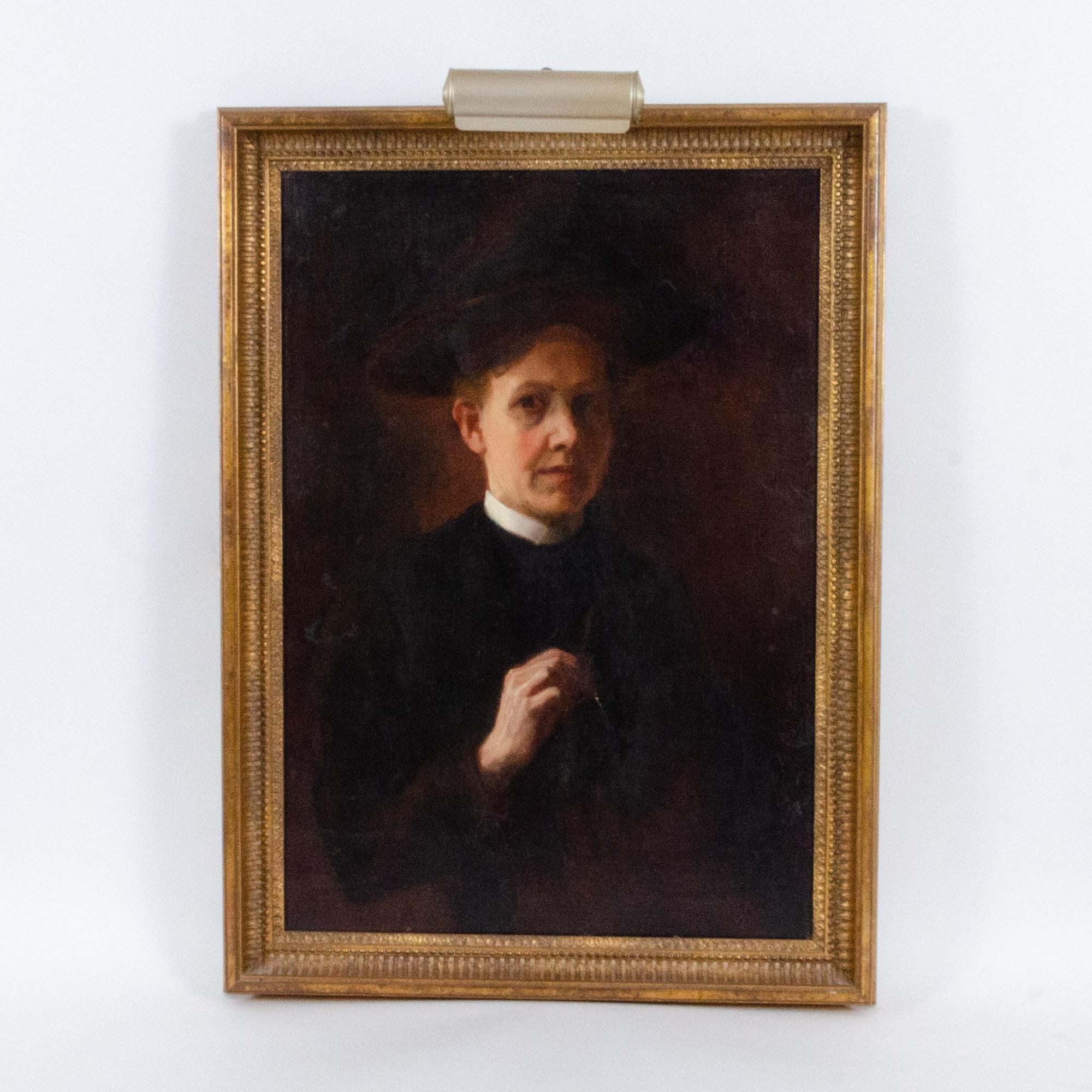 Caroline Lord 19th Century Oil Painting, Self Portrait