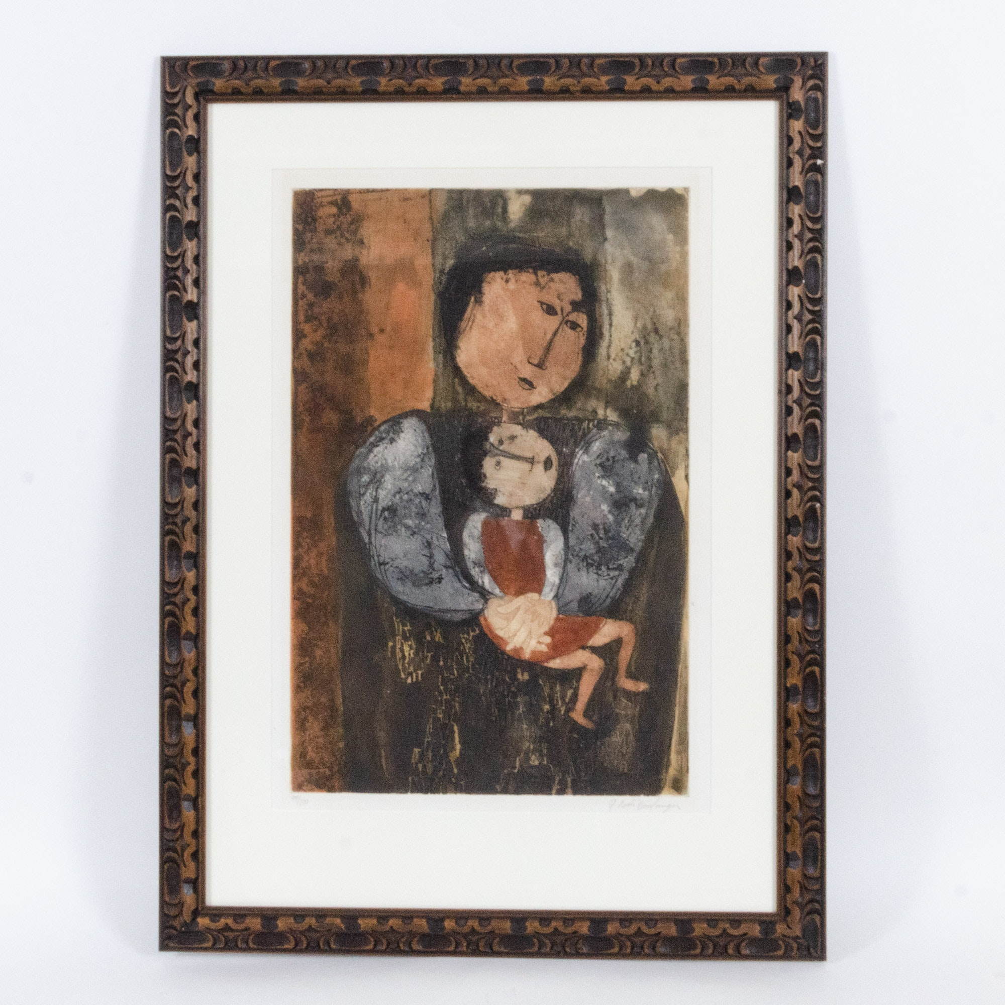 Graciela Rodo Boulanger Color Lithograph, Women with Child