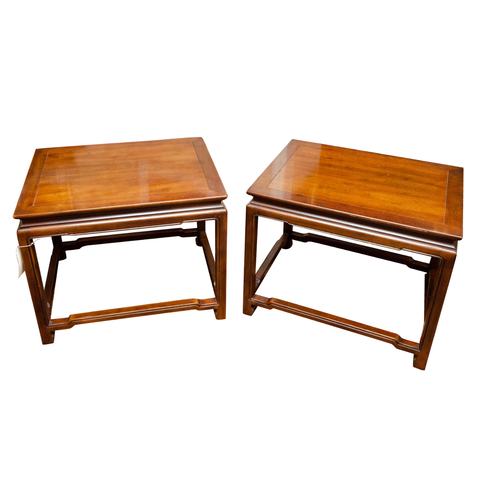 Chinese Style Mahogany Side Tables by Henredon, Late 20th Century