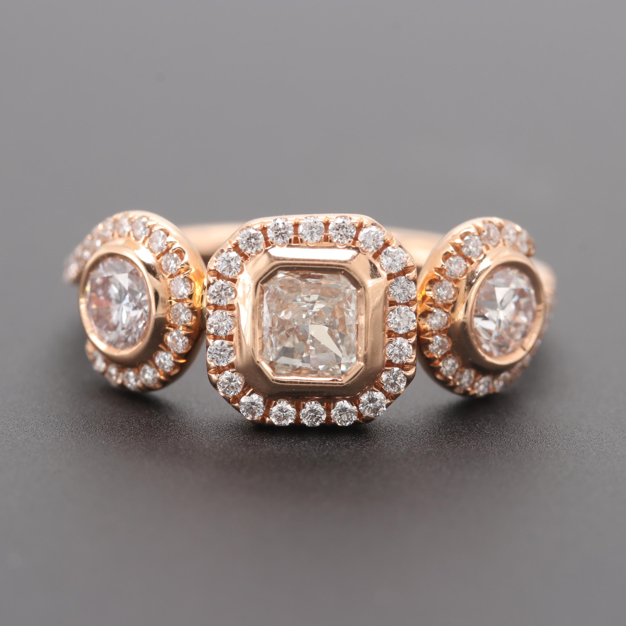 18K Rose Gold 1.04 CTW Diamond Ring
