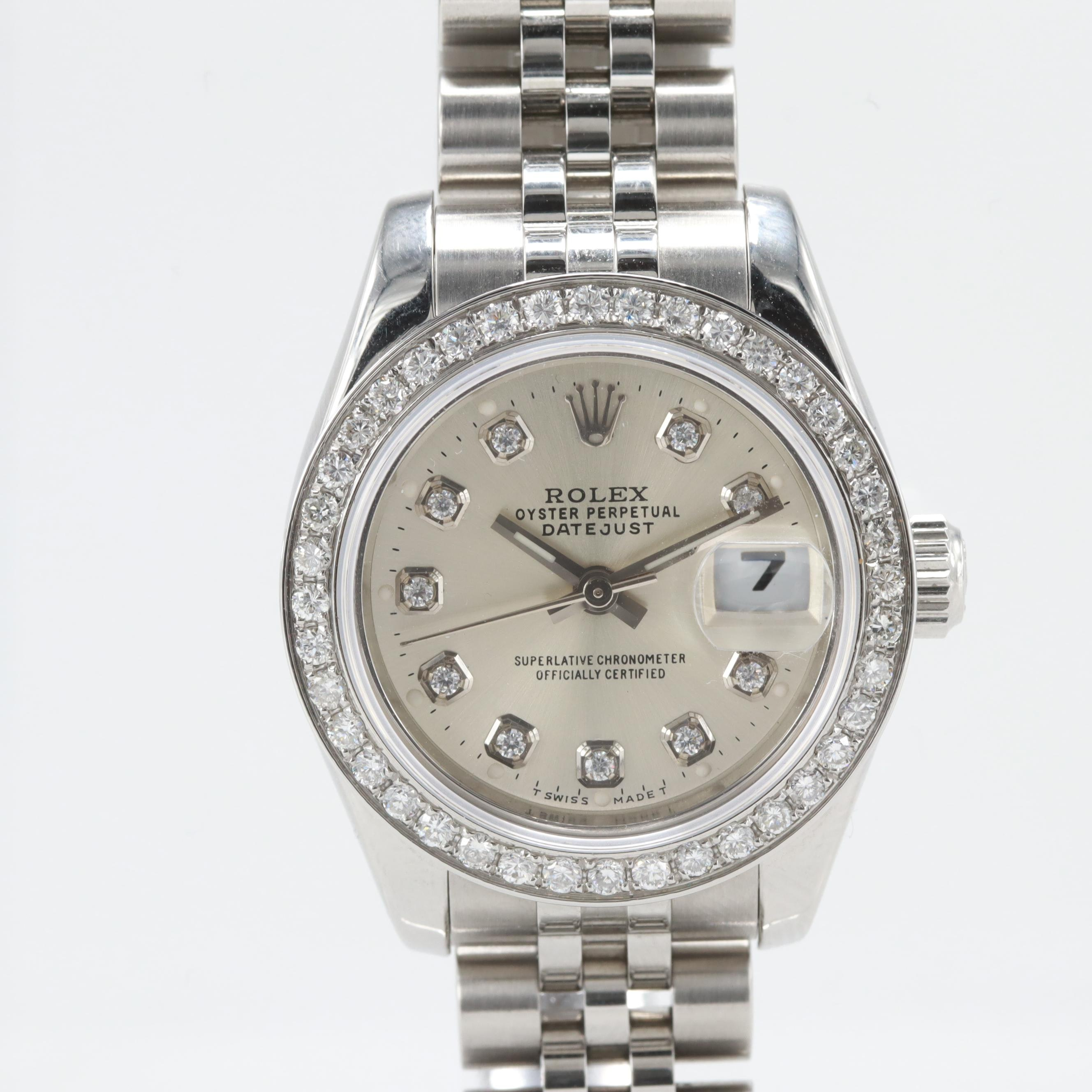 Rolex Datejust Diamond Bezel Wristwatch