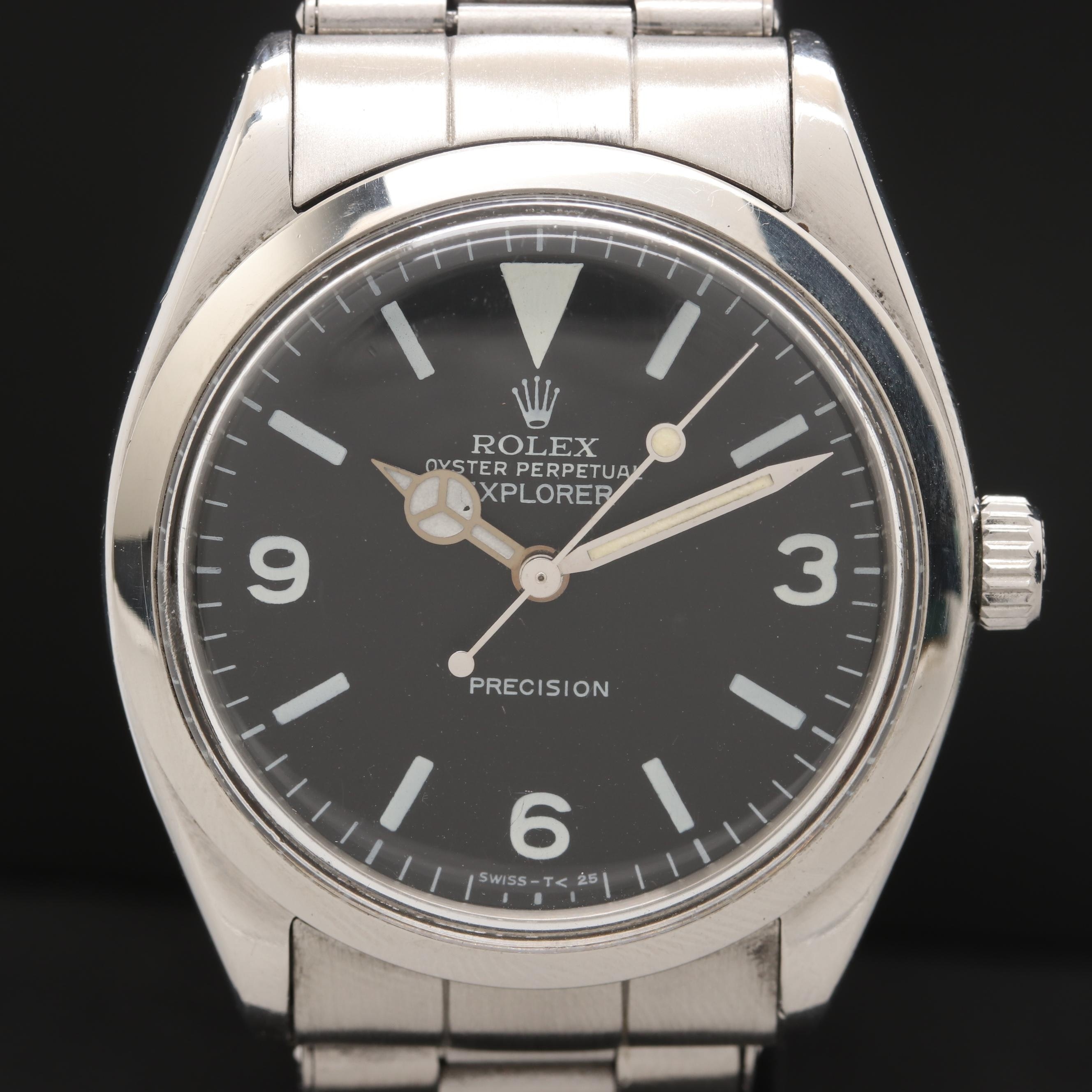 Rolex Air King 5500 with Explorer Dial Wristwatch 1960