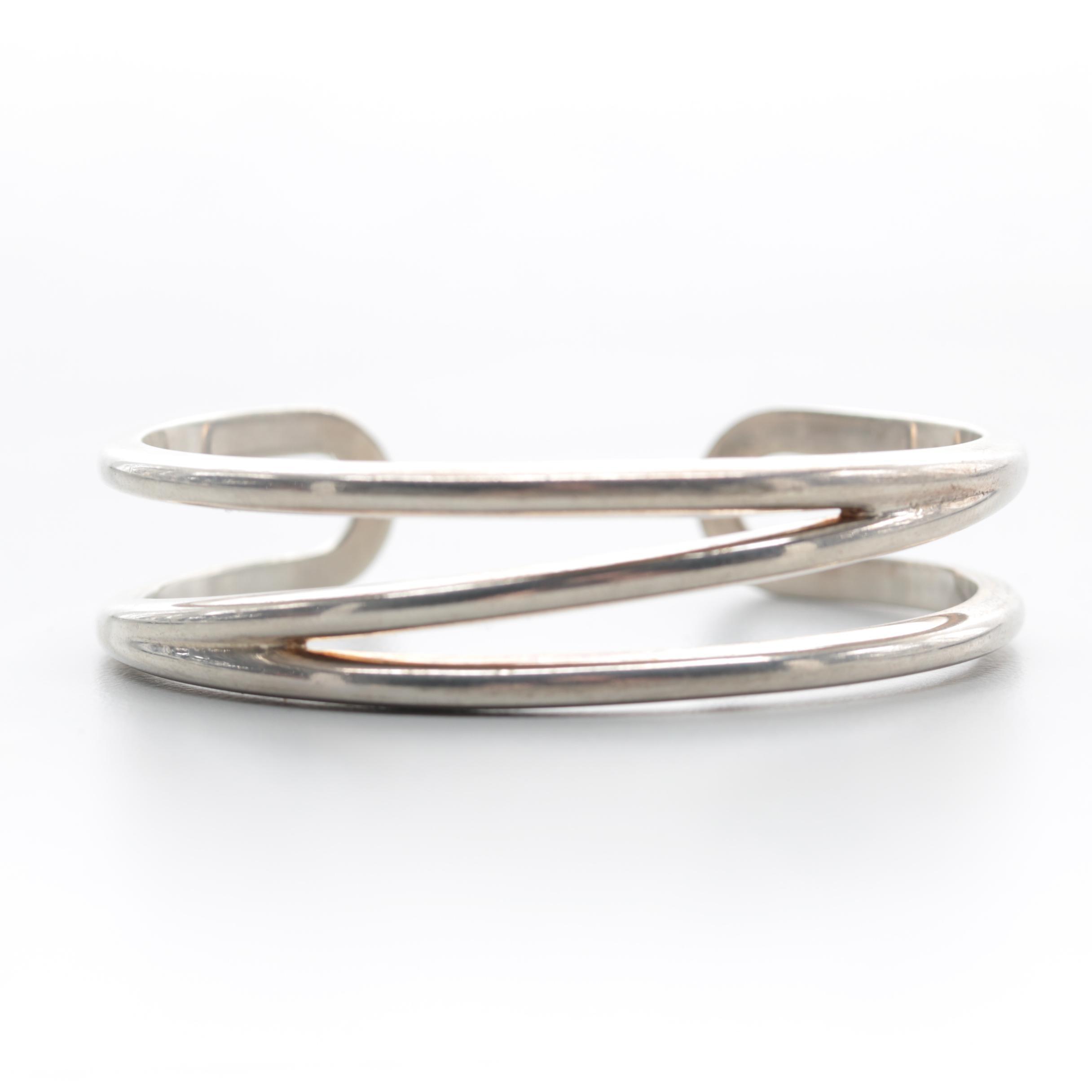 "Tiffany & Co. ""Zig Zag"" Sterling Silver Cuff Bracelet"