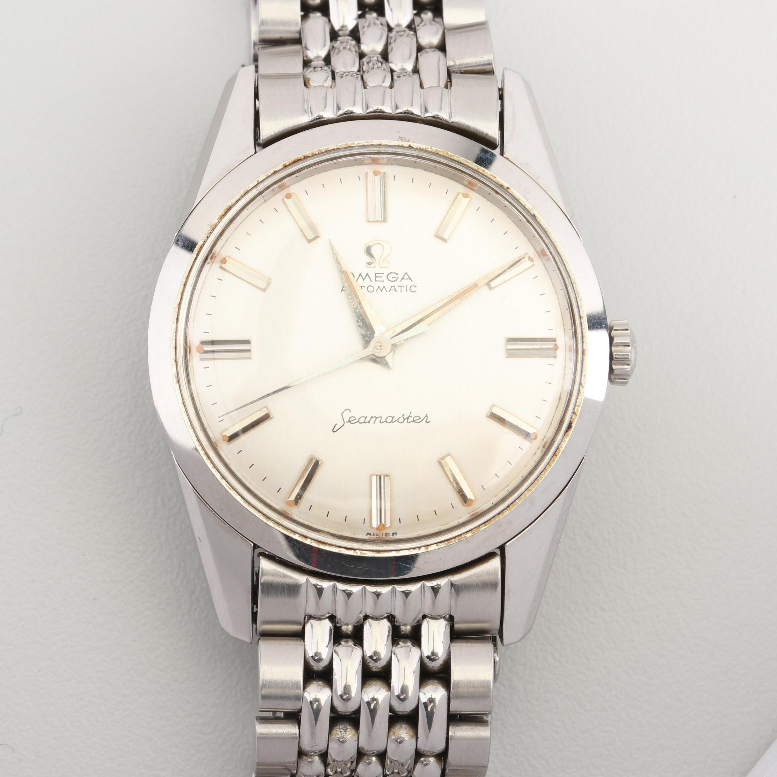 Vintage Omega Automatic Seamaster Stainless Steel Wristwatch