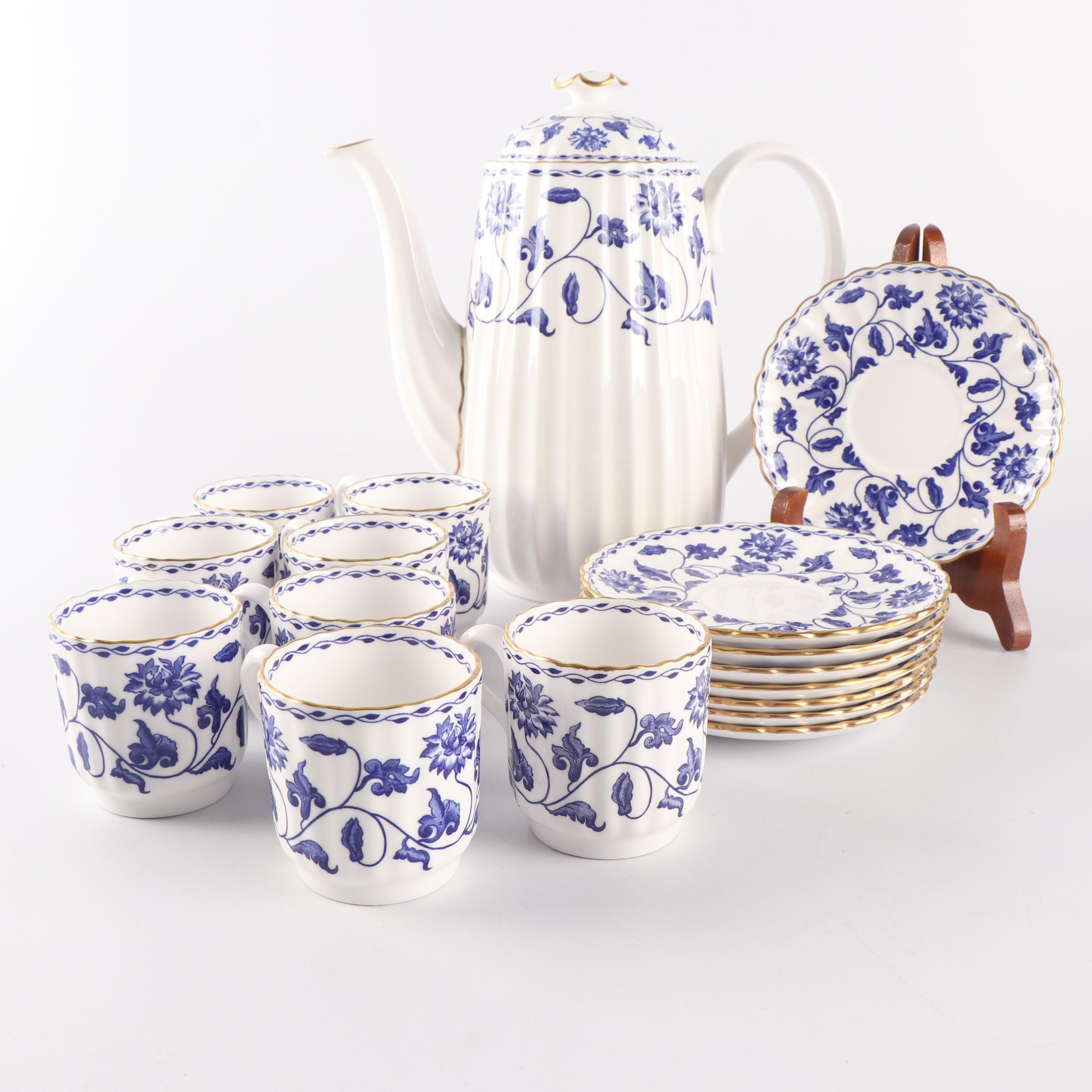 "Spode Porcelain ""Colonel-Blue Demitasse Coffee Service"