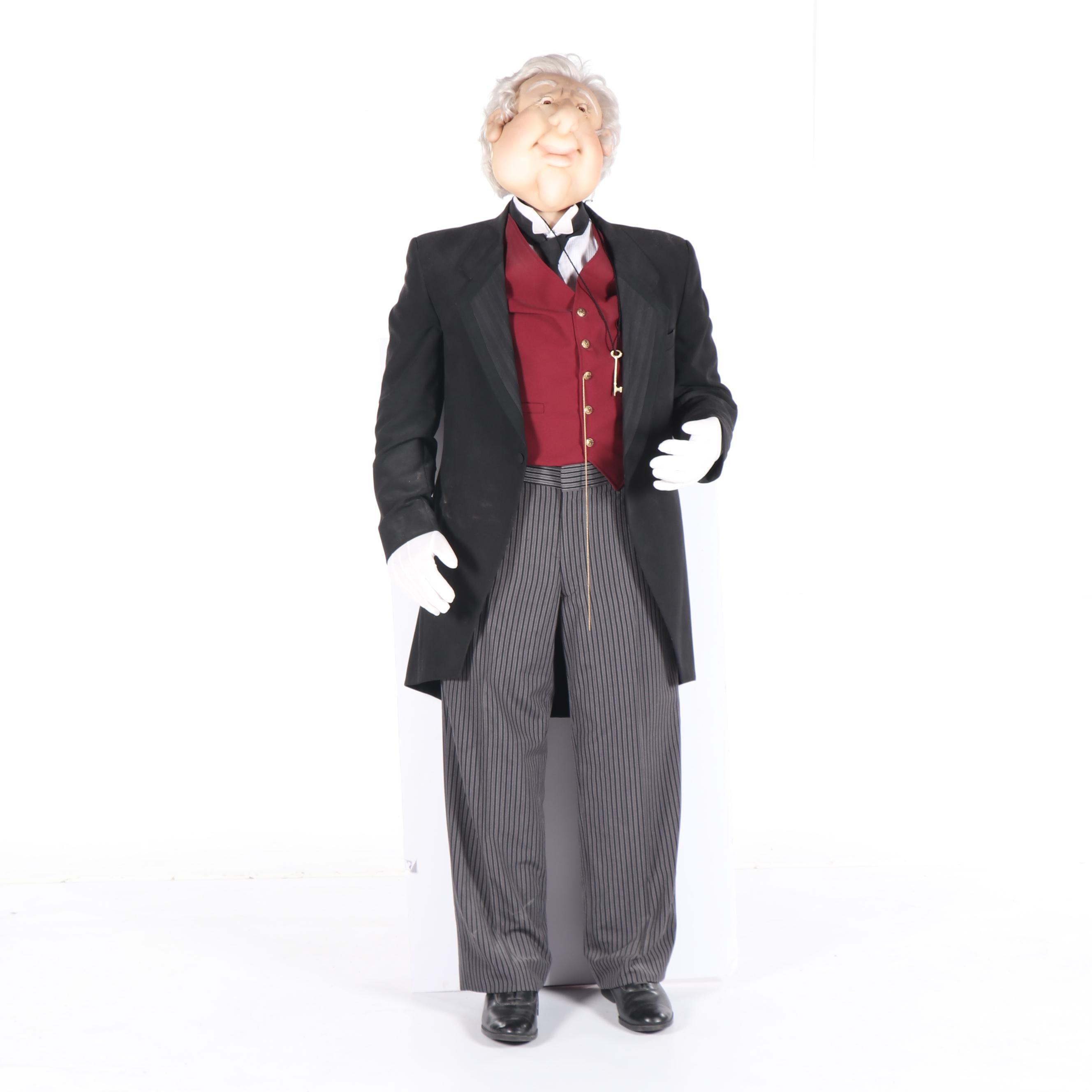 "Life-Sized ""Bentley"" Soft Sculpture Butler by Susan and Kelly Nolan"