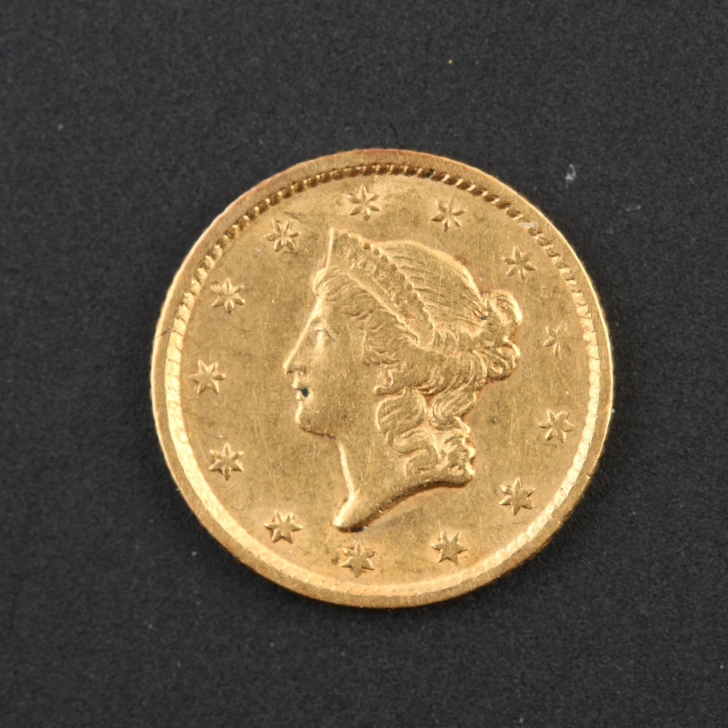 1853 Liberty Head Type 1 Gold Dollar