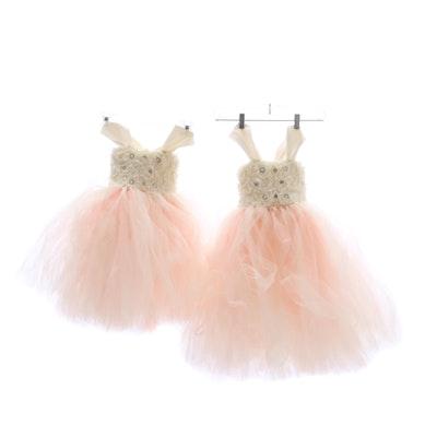 38de495609 Girls' Handmade Tutu Dresses with Rhinestone and Imitation Pearl  Embellishments