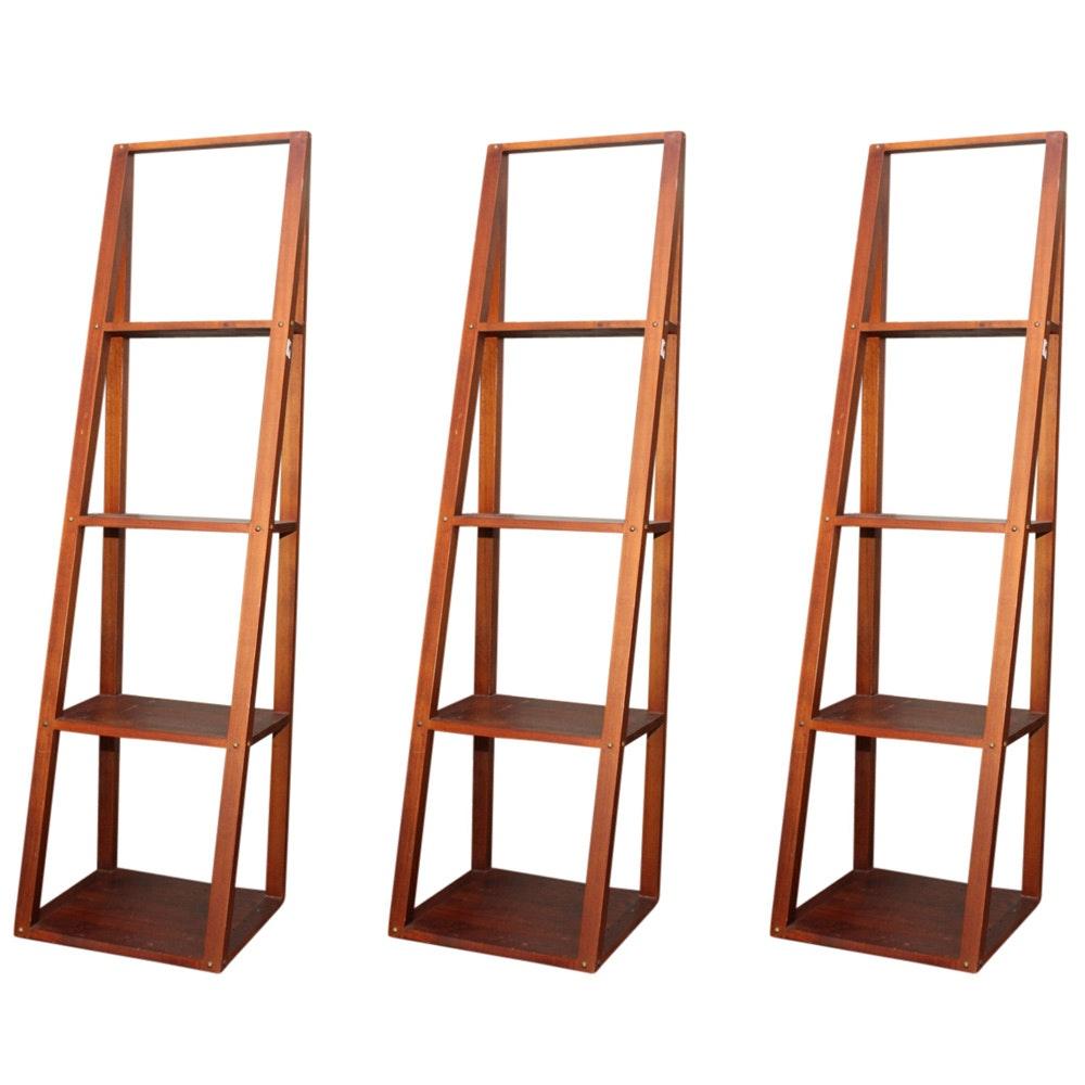 Three Trestle Bookcases
