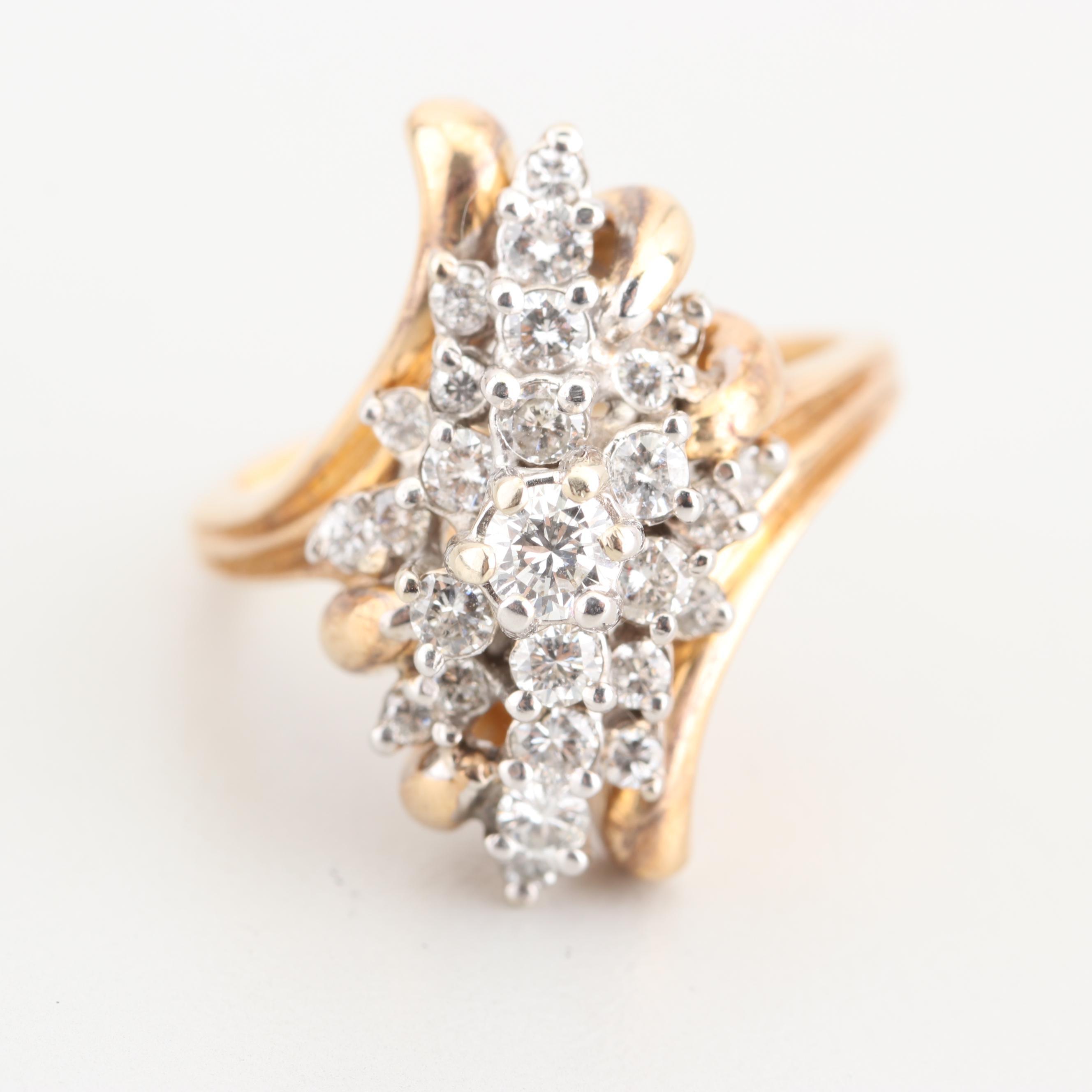 14K Yellow Gold 1.20 CTW Diamond Ring