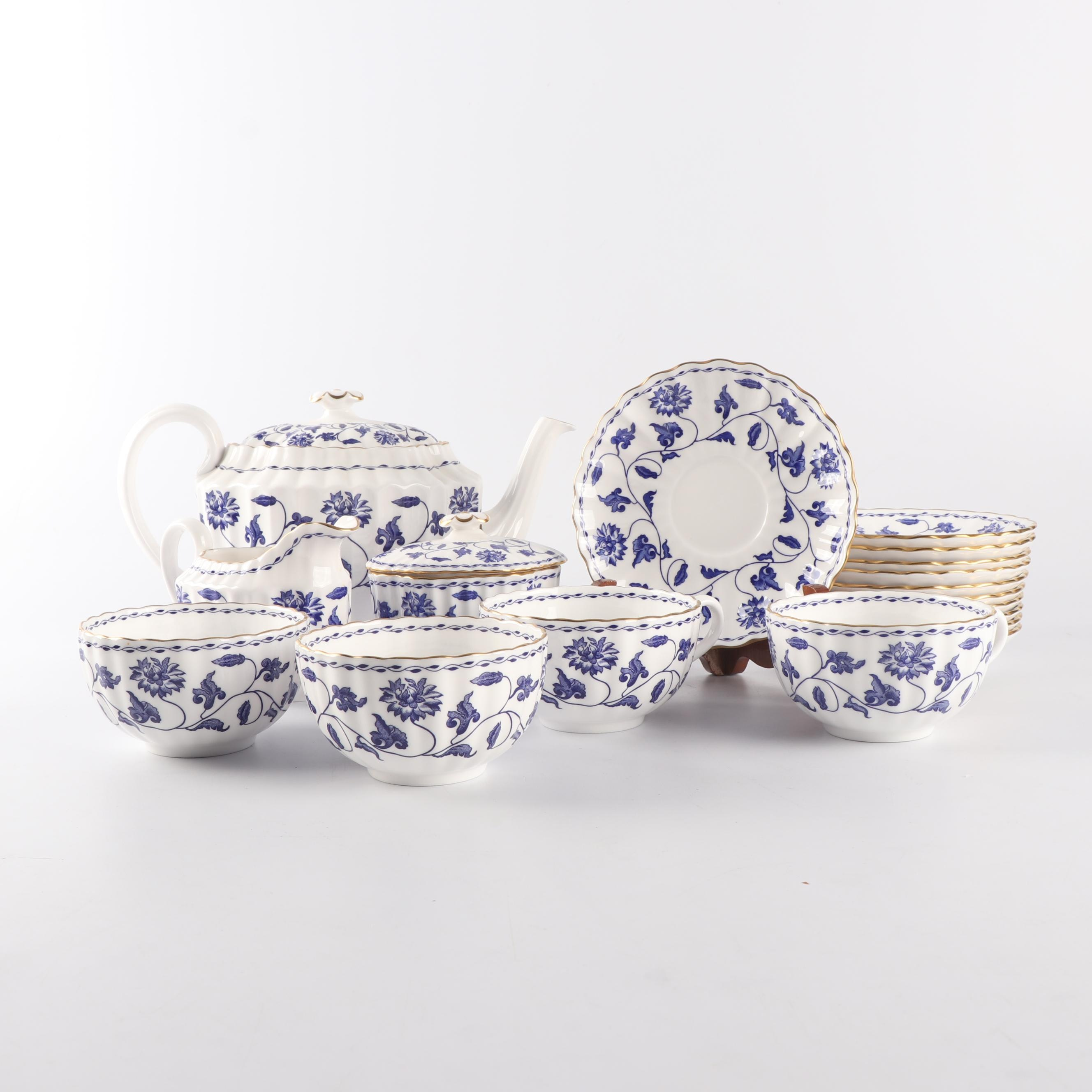 "Spode Porcelain ""Colonel-Blue"" Part Tea Service"