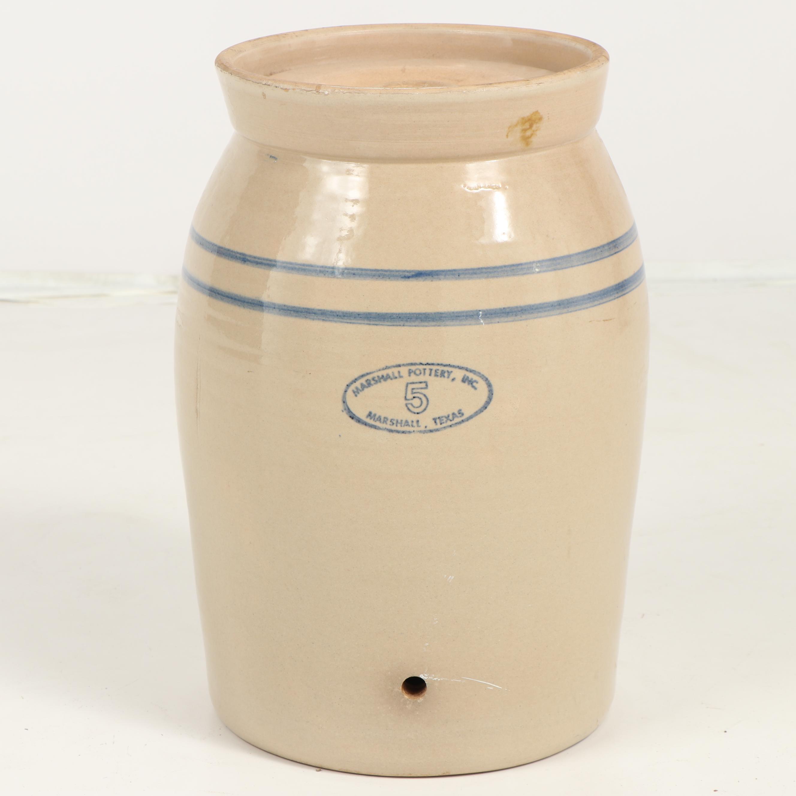 Vintage Marshall Pottery Beverage Dispenser Crock