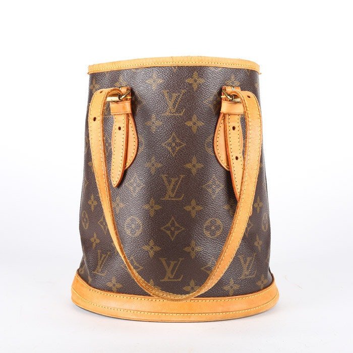 2001 Louis Vuitton Paris Monogram Canvas Petite Bucket Bag