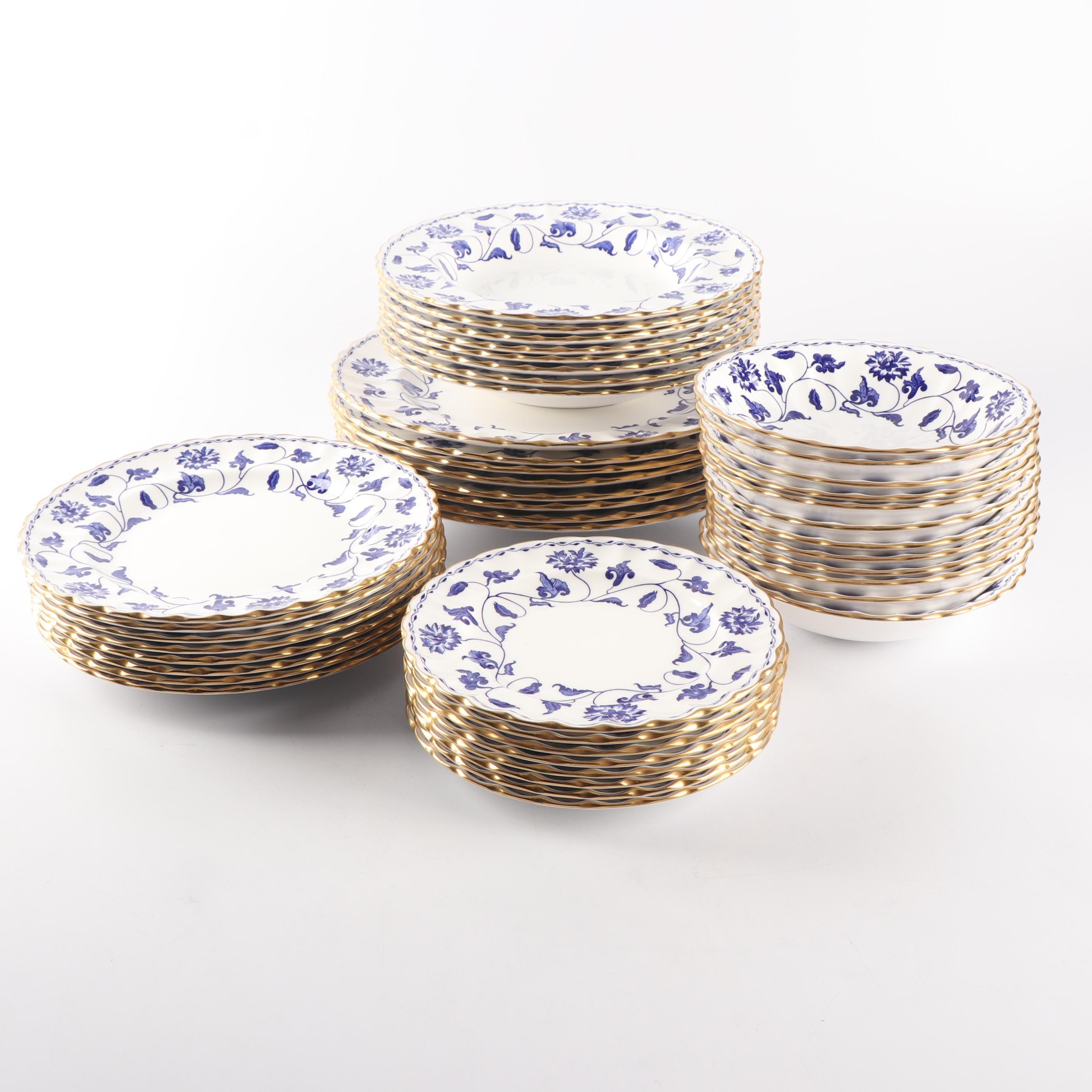 "Spode Porcelain ""Colonel-Blue"" Part Dinner Service"