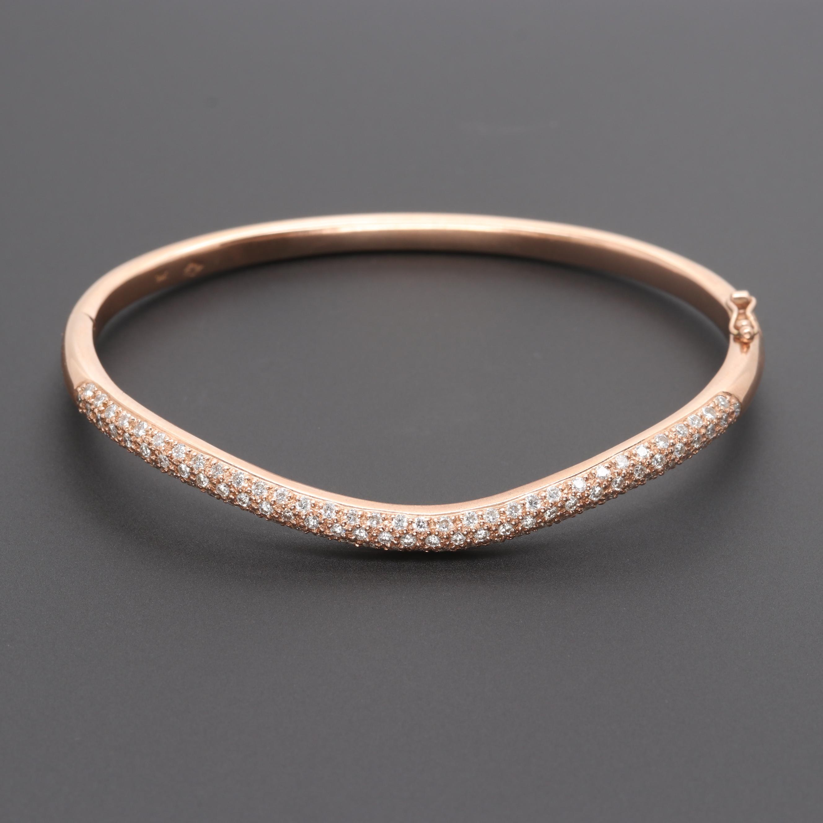14K Rose Gold 1.50 CTW Diamond Bracelet