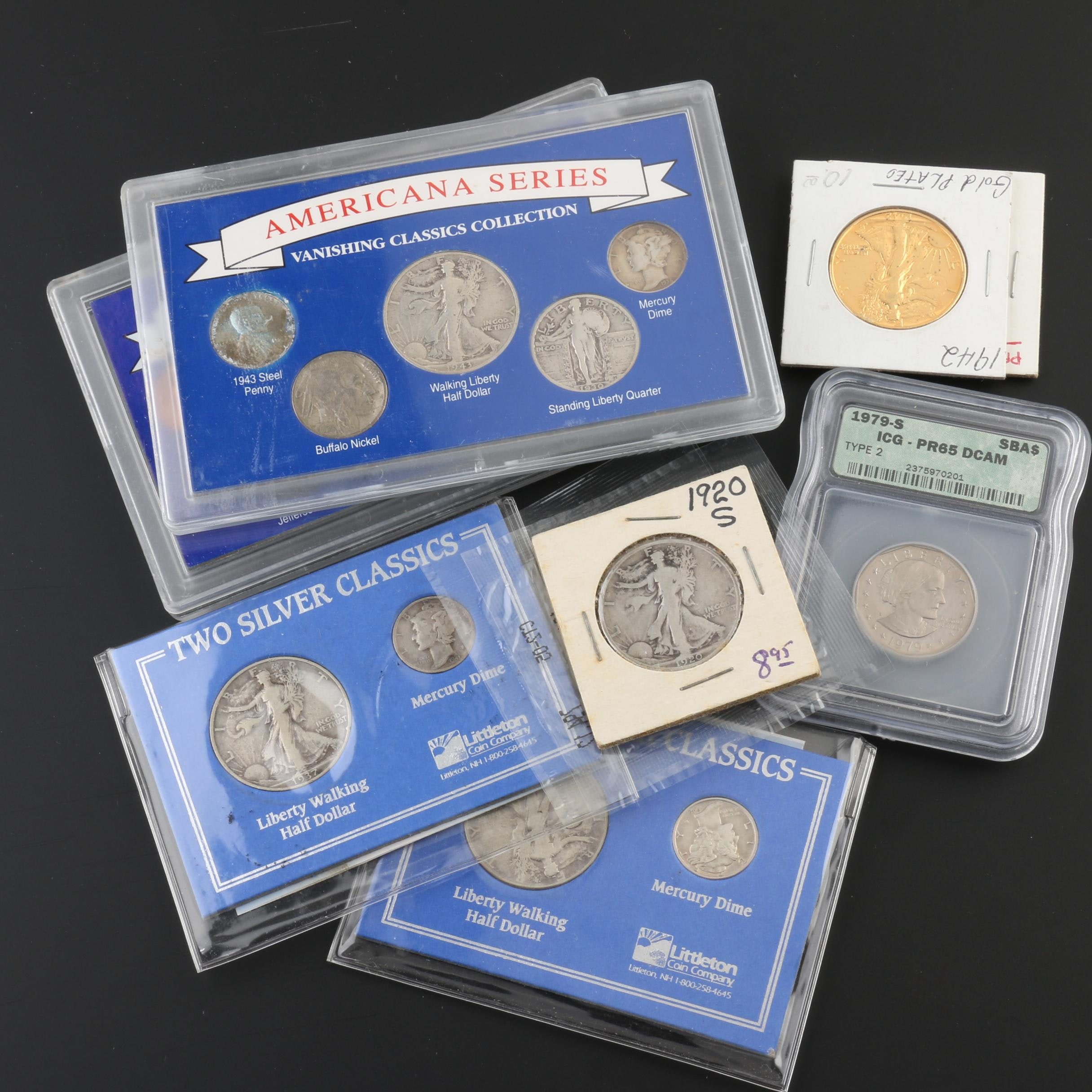 Assortment of Vintage U.S. Coins, Including Many Silver Coins
