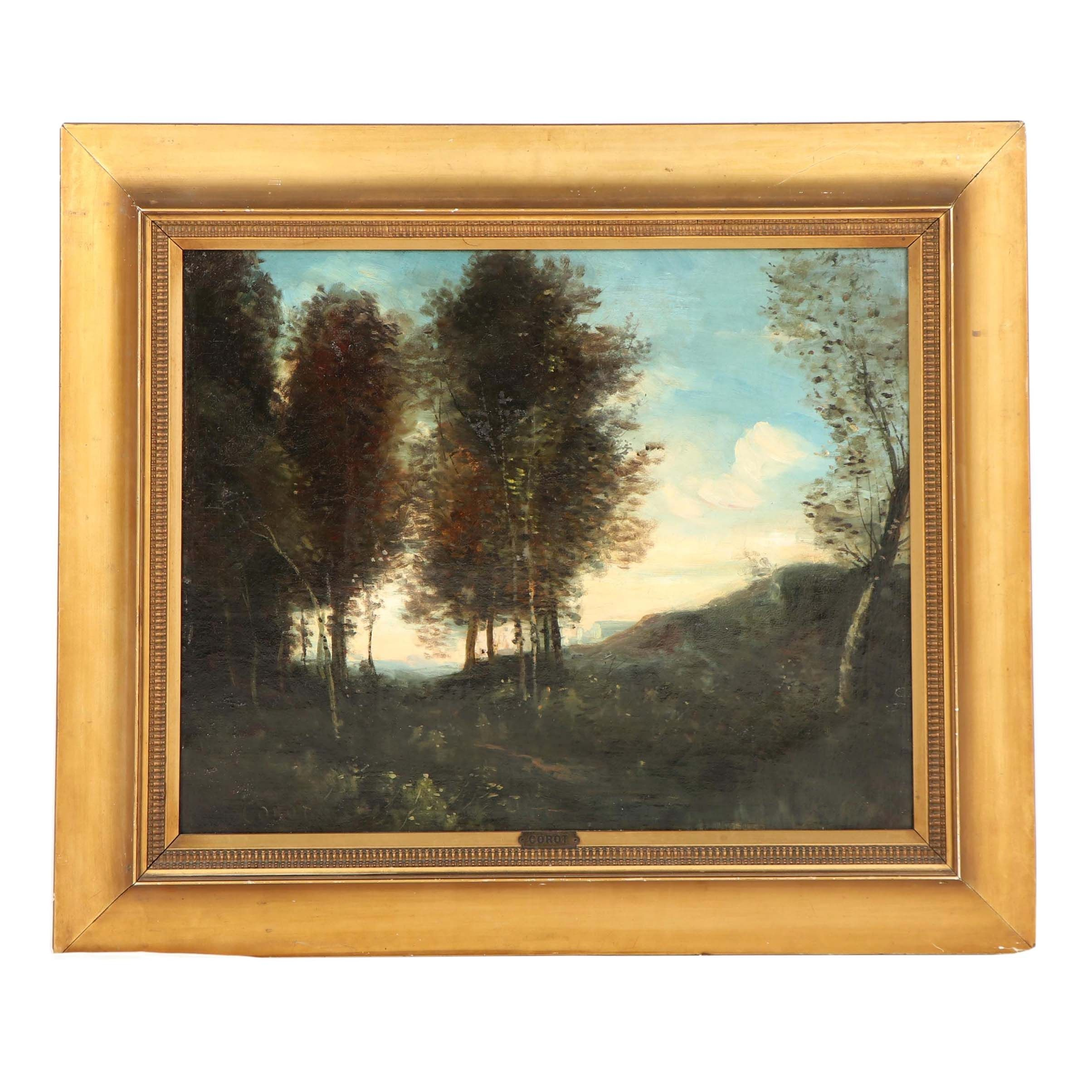Oil Painting in the Manner of Jean Baptiste Camille Corot