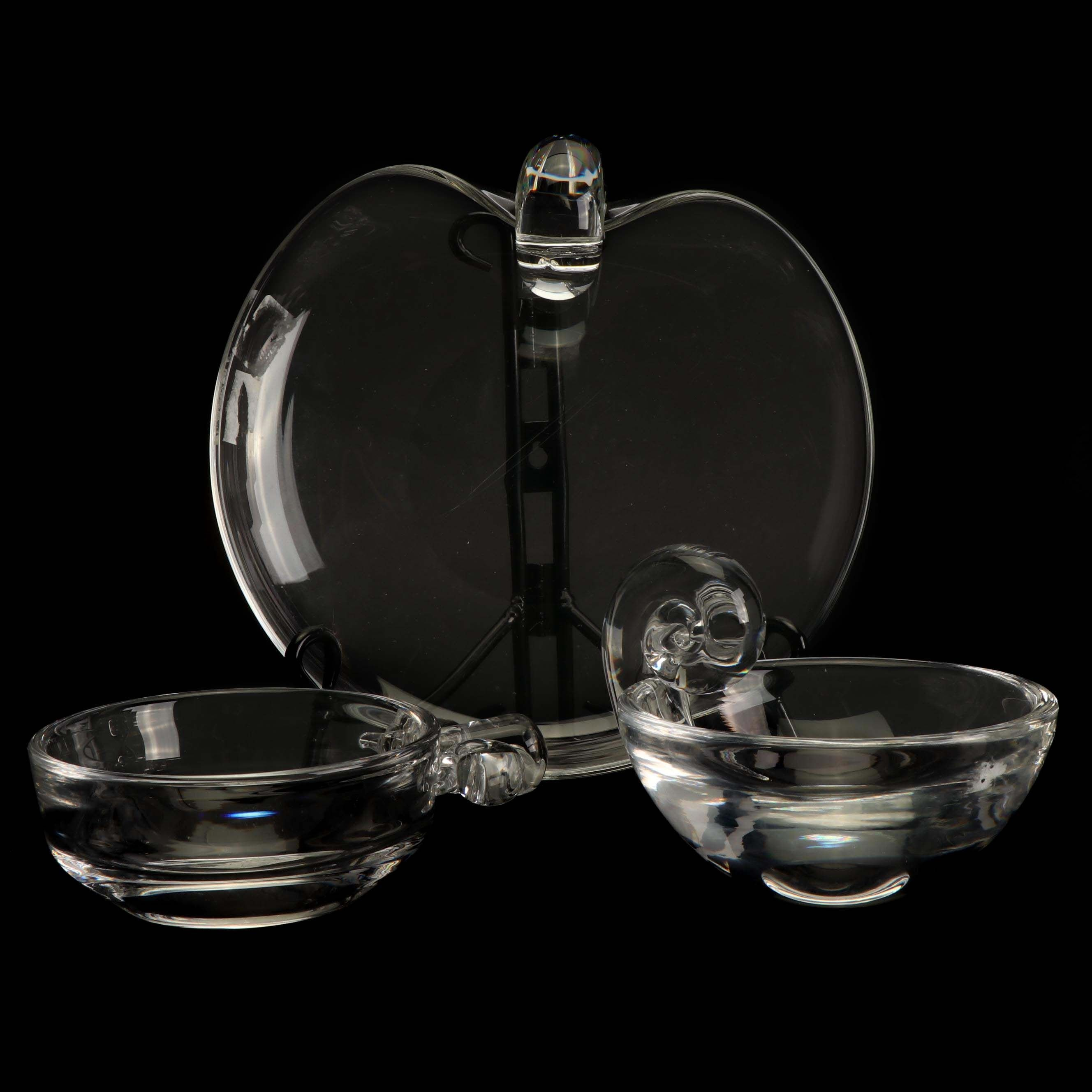 Three Steuben Glass Bowls