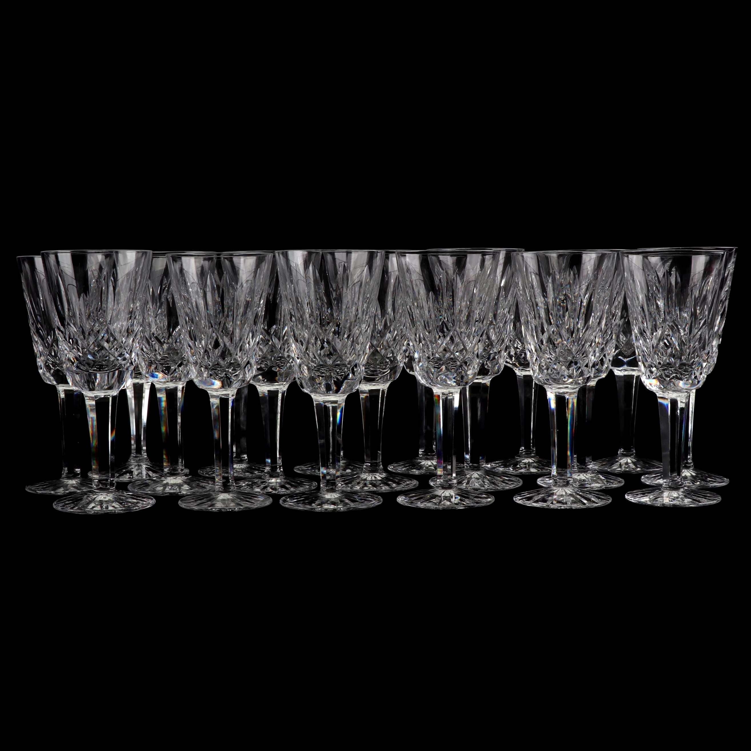 "Waterford ""Lismore"" Leaded Glass Stemware"