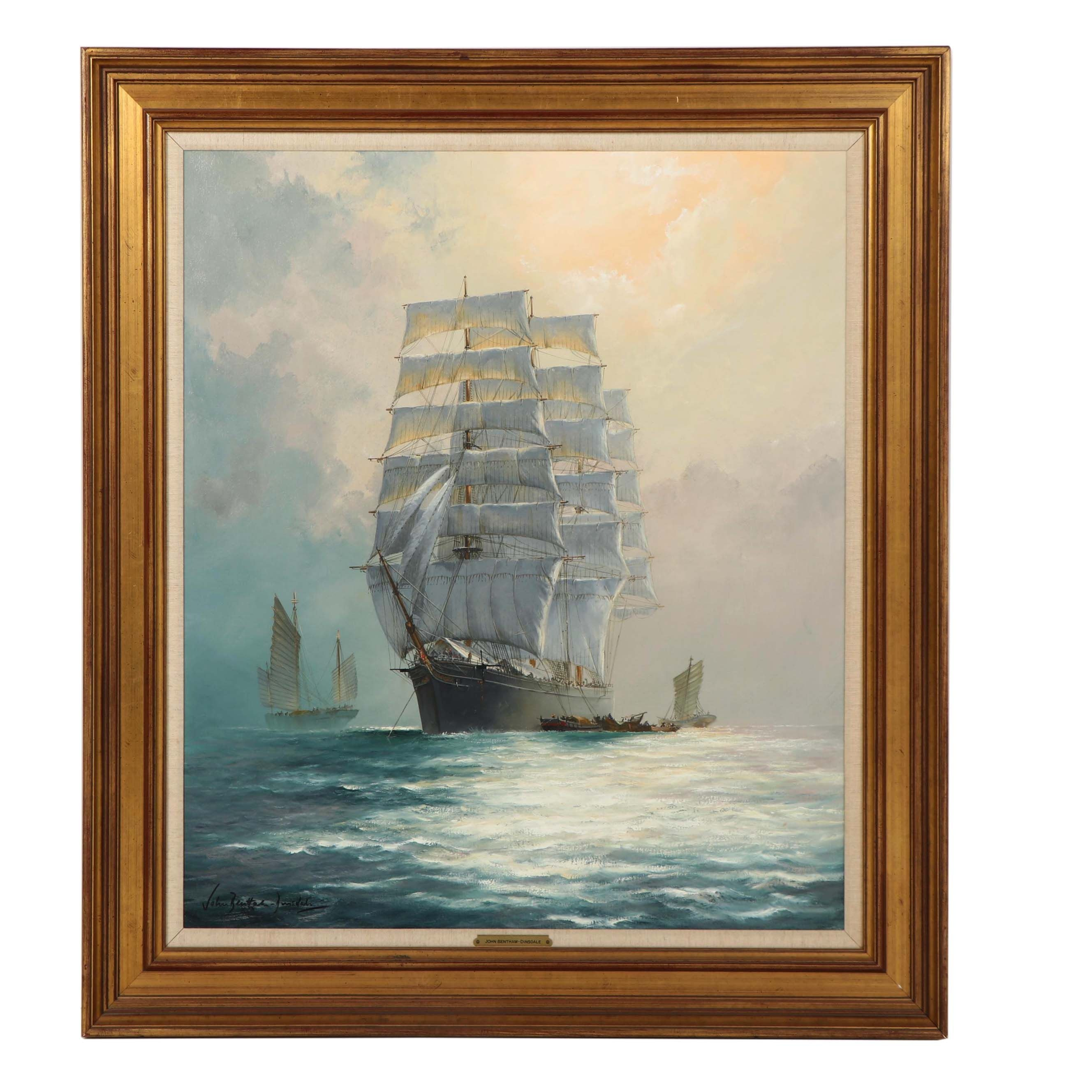 "John Bentham-Dinsdale Oil Painting ""The Clipper Ship, The Star of France"""