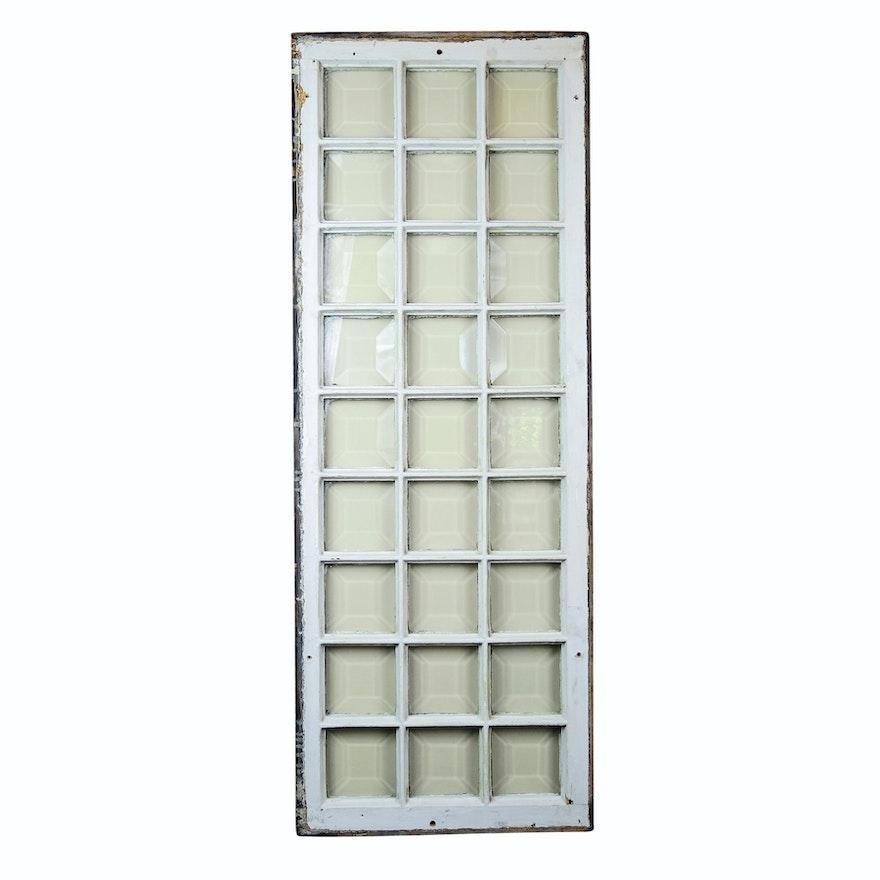 Paneled Beveled Glass Window