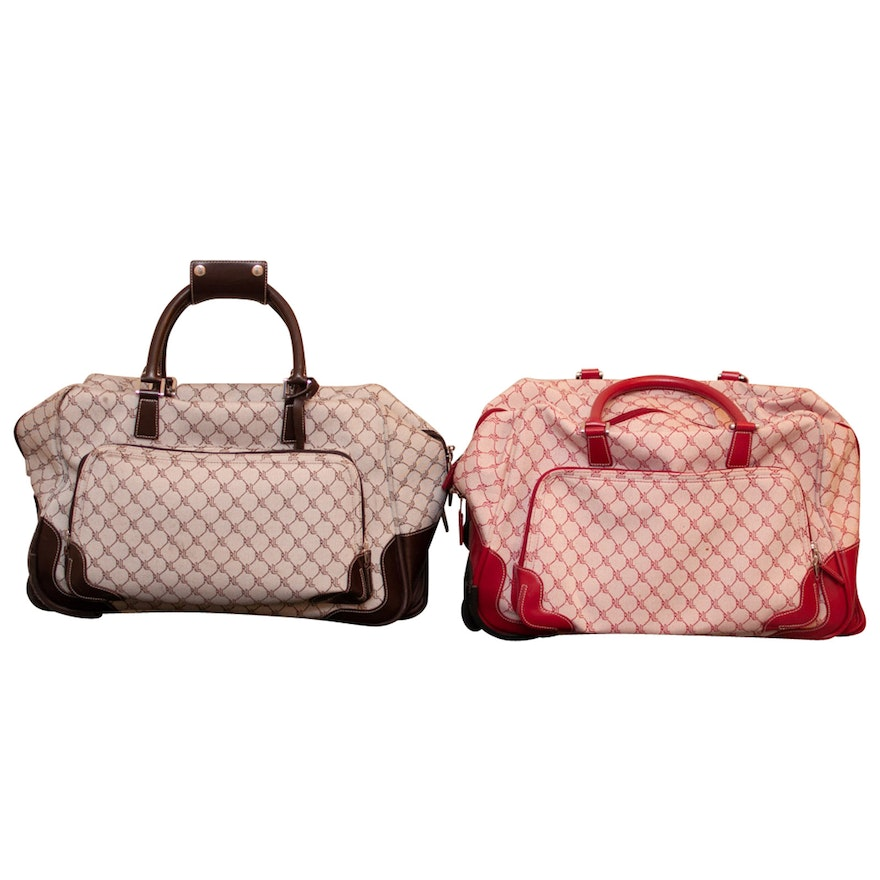 887ca597b193 Lauren by Ralph Lauren Signature Canvas Carry-On Luggage Duffle Bags   EBTH