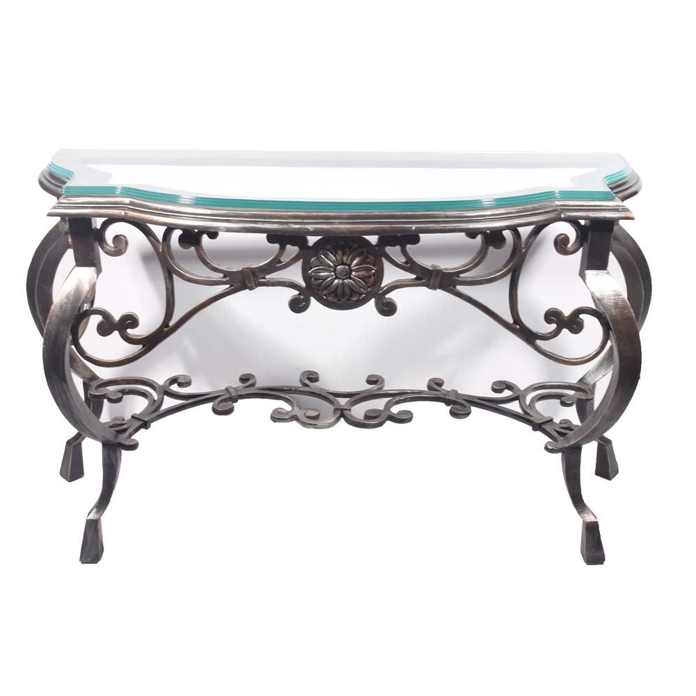 Italianate Steel Console Table, Contemporary