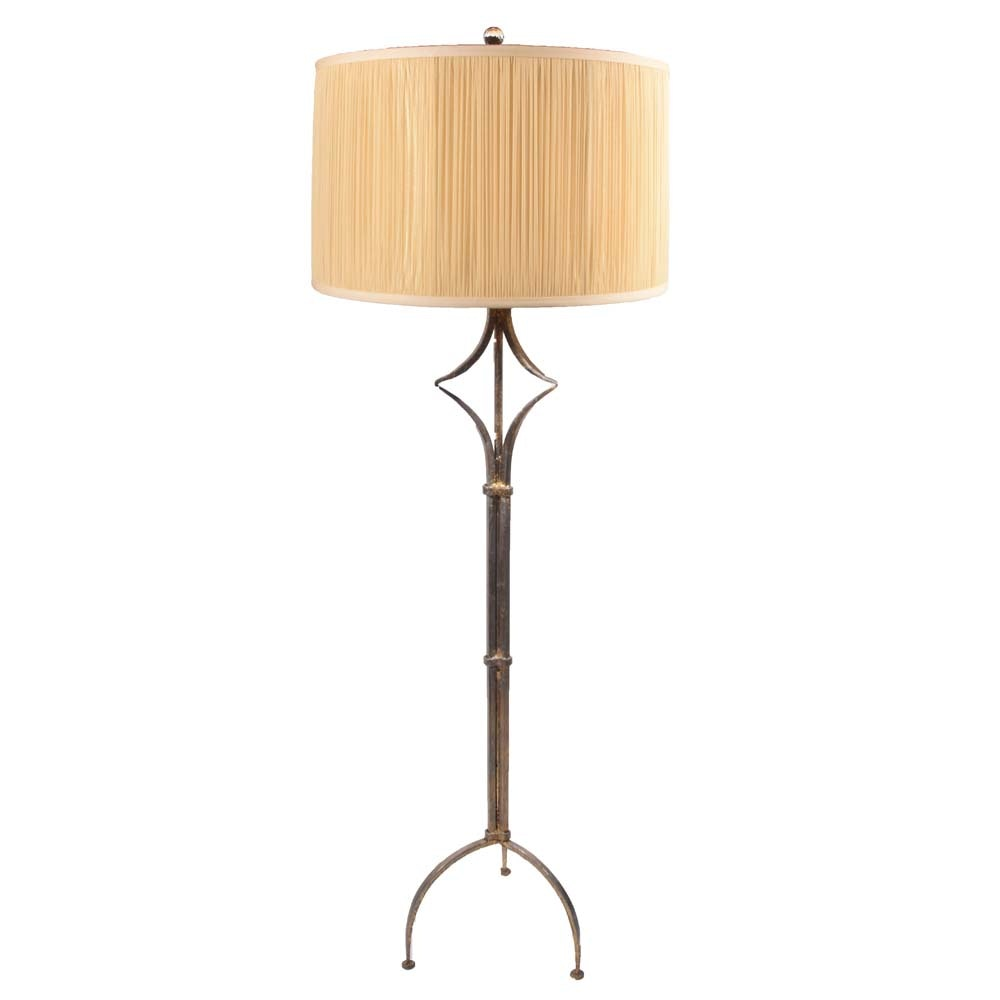 Contemporary Gold Burnished Iron Floor Lamp