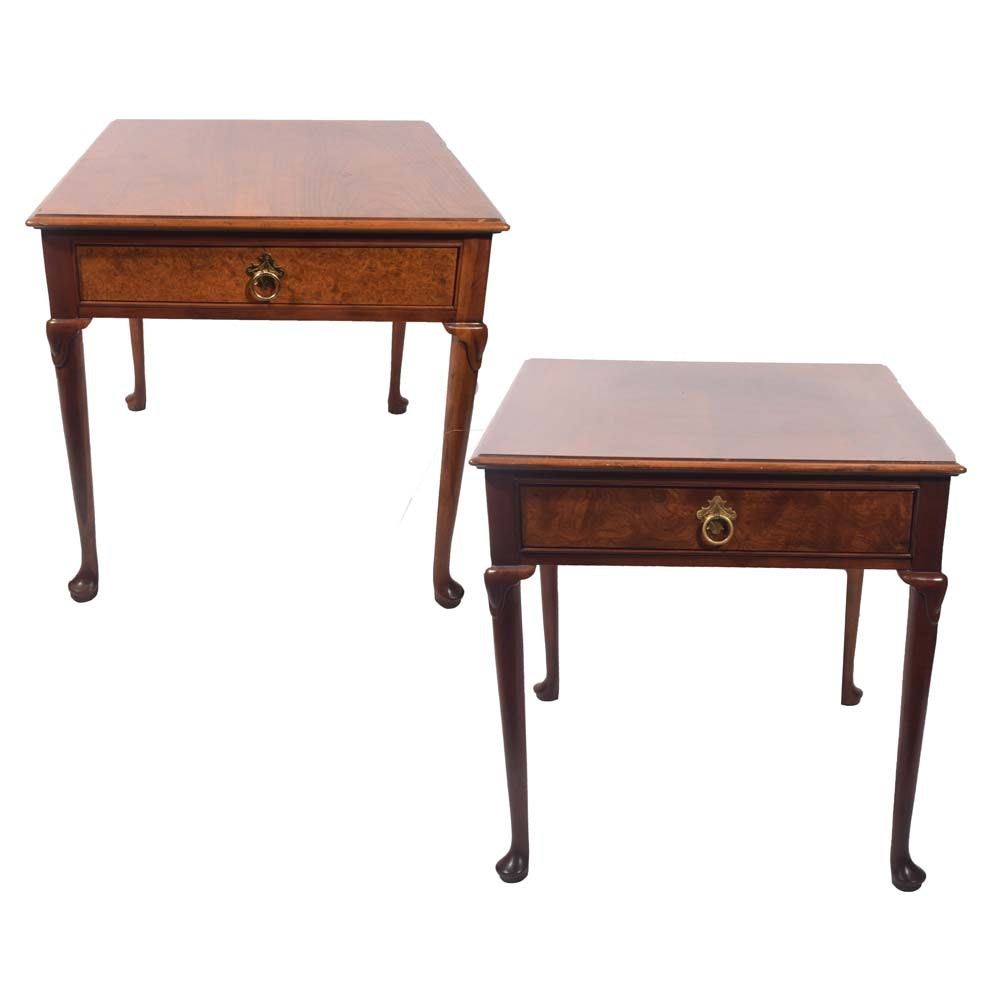 Queen Anne Side Tables By Baker Furniture, Late Twentieth Century