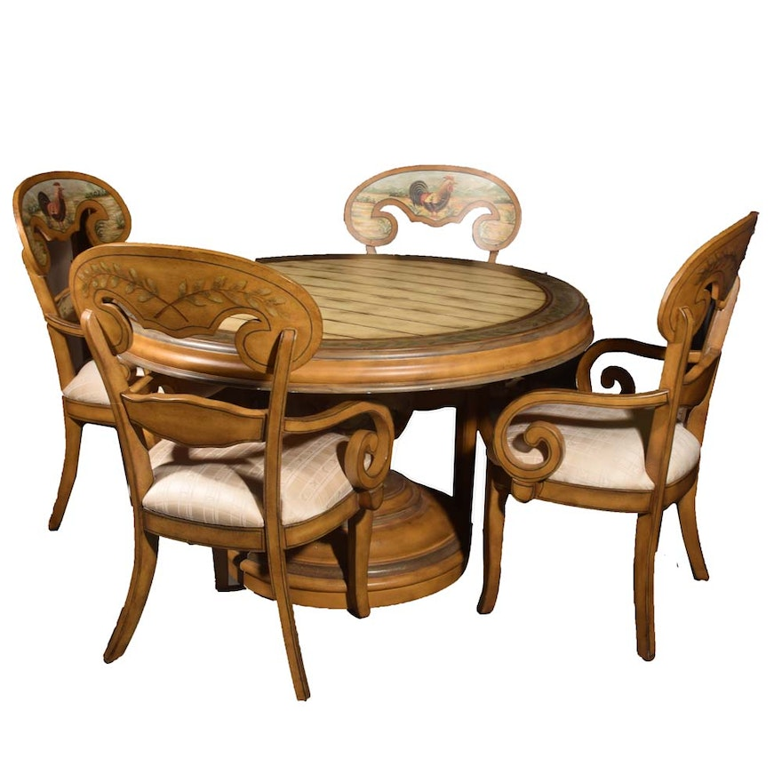 French Country Painted Dining Room Set By Pulaski Contemporary Ebth