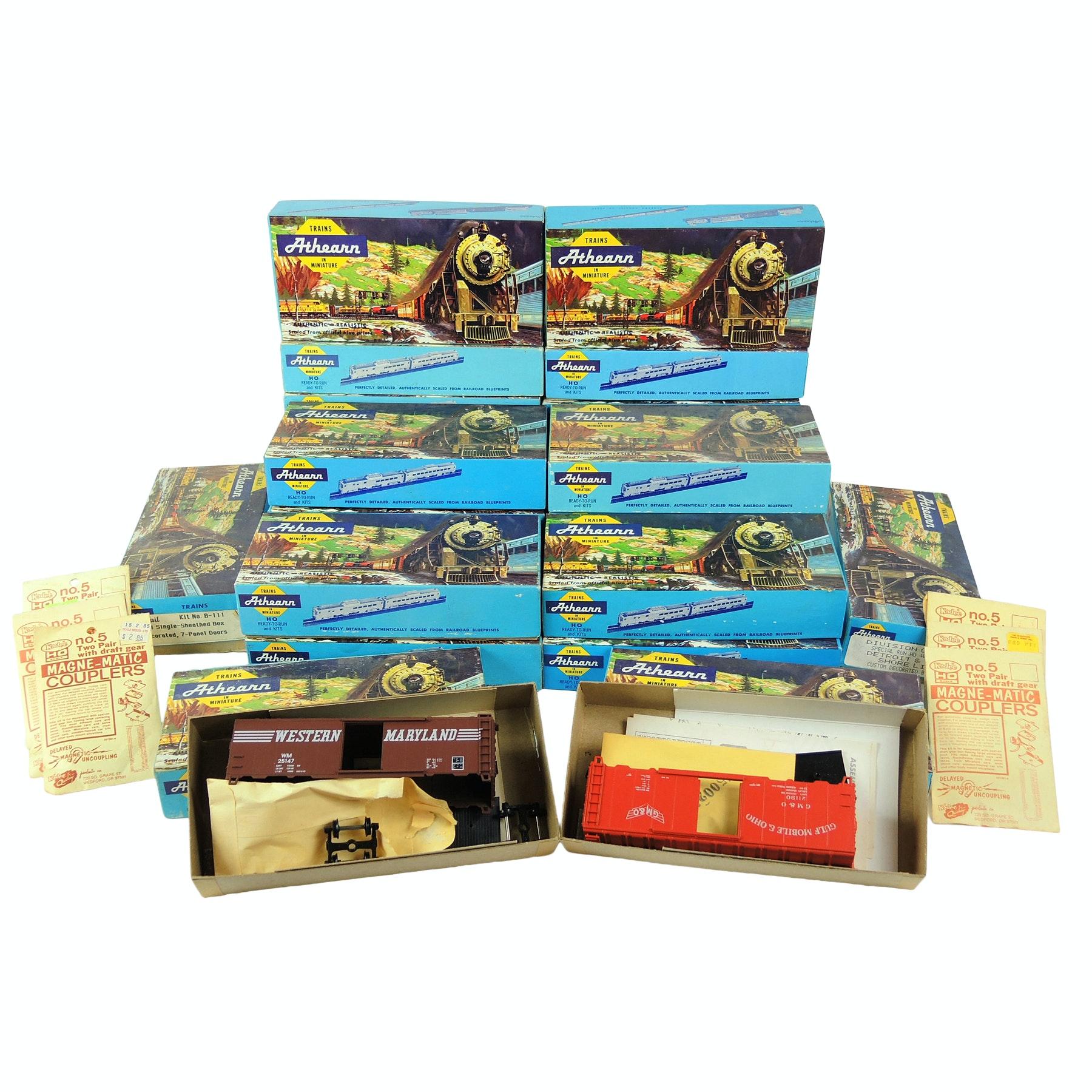 Athearn Model Train Kits and Kadee Magne-Matic Couplers