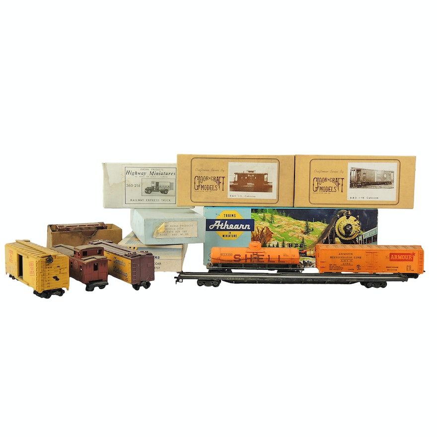 HO Scale Freight Cars and Models by Athearn, Gloor Craft, Jordan and Walthers