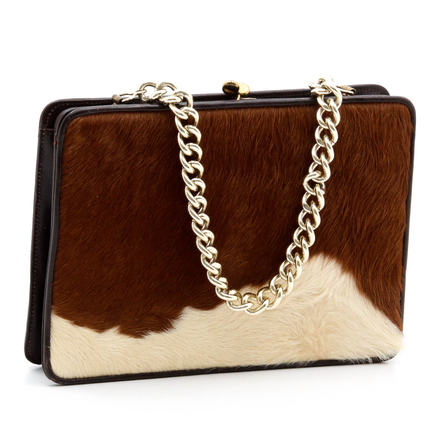 Vintage Walter Katten Cowhide Handbag