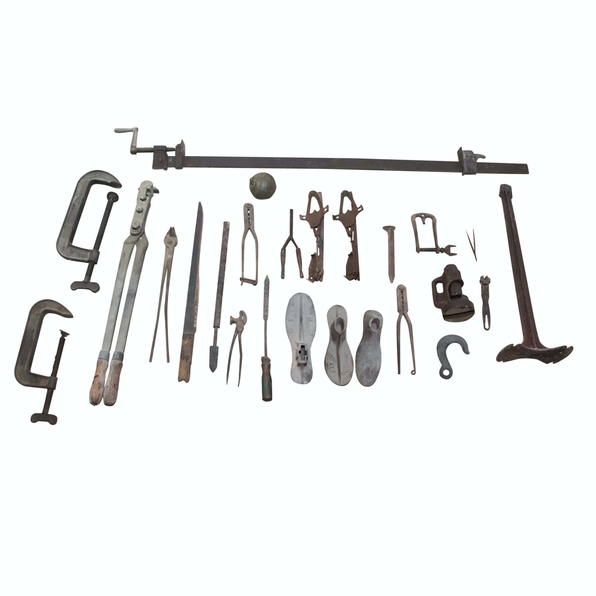 Antique Iron Tool Collection