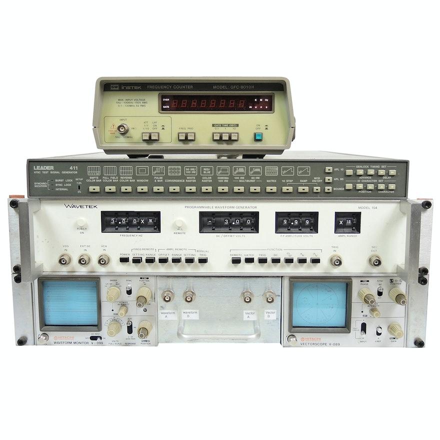 Leader 411 Test Signal Generator, Hitachi Waveform Monitor and More