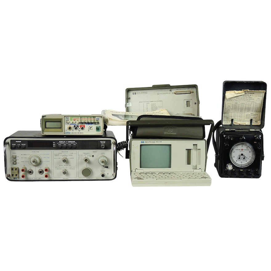 Hewlett Packard 3551 A Transmission Test Set and More Testing Equipment