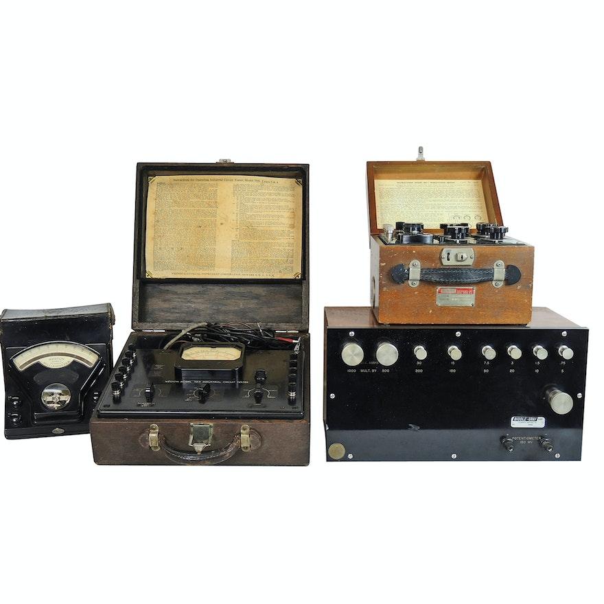 Scientific Testing Equipment Including Weston Industrial Circuit Tester