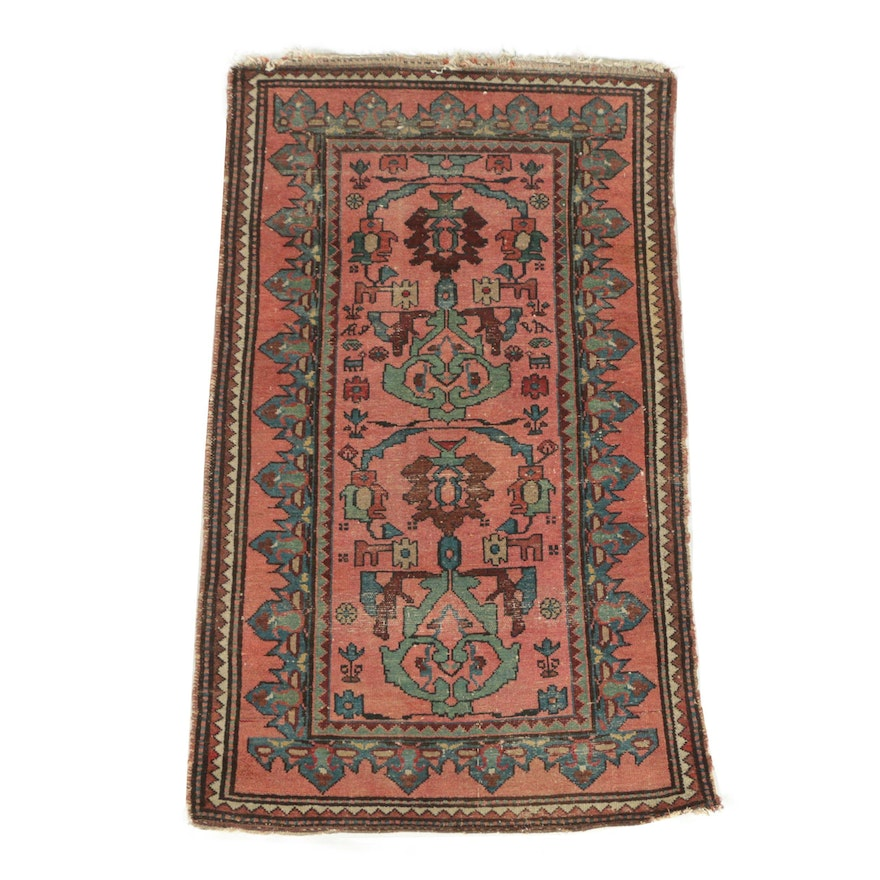 Semi-Antique Hand-Knotted Caucasian Shirvan Wool Rug