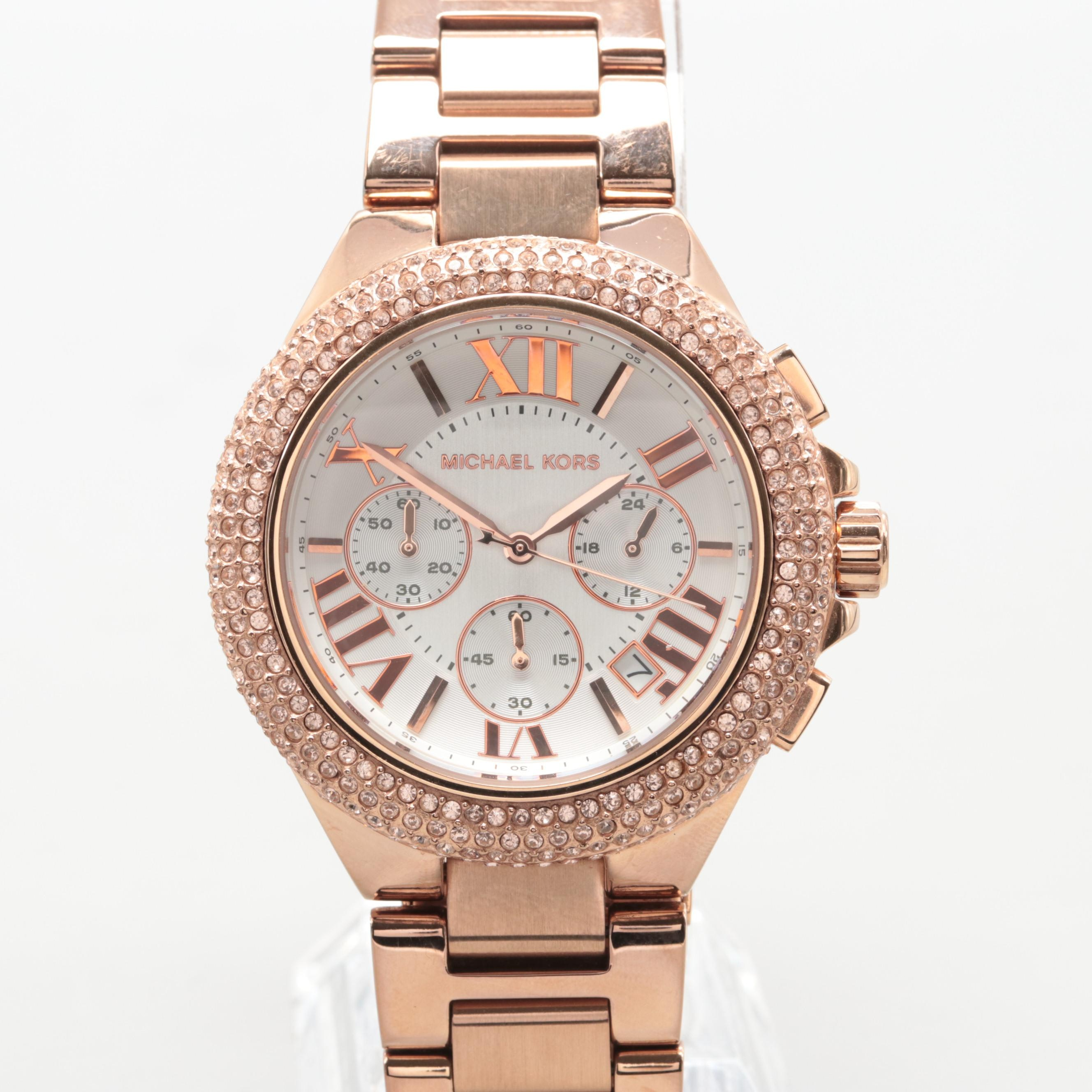 Michael Kors Model MK-5636 Rose Gold Tone Chronograph Wristwatch