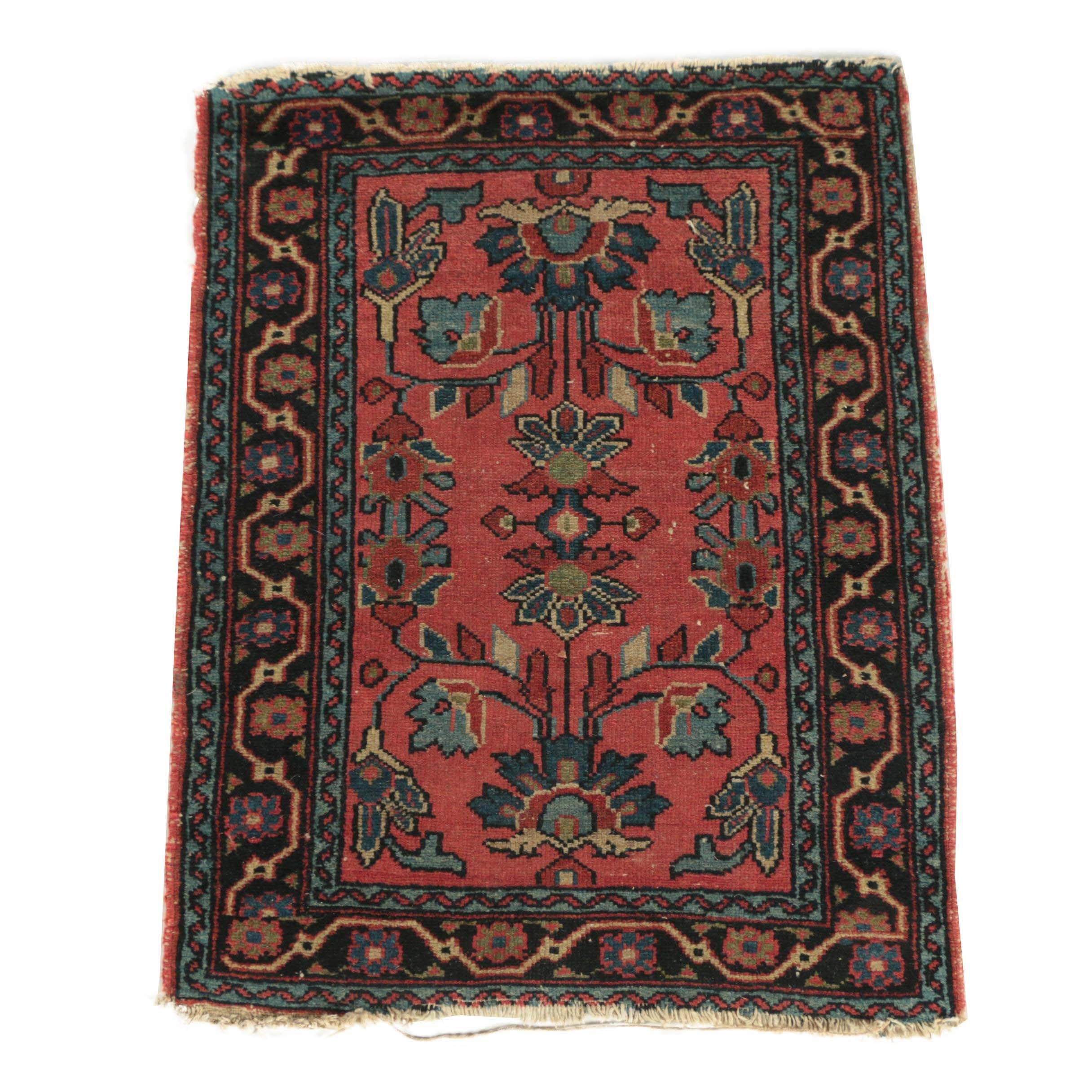 Semi-Antique Hand-Knotted Persian Wool Rug