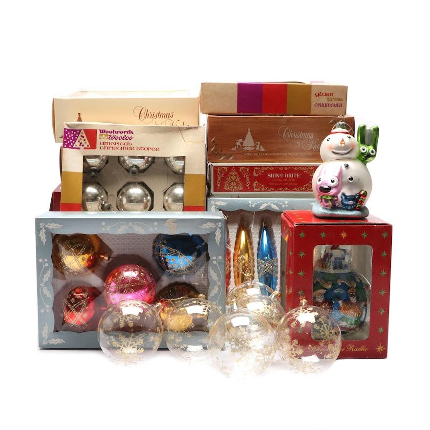 Christmas Ornaments Incl. Christopher Radko, Shiny Brite, Vintage Italian  ... - Christmas Ornaments Incl. Christopher Radko, Shiny Brite, Vintage
