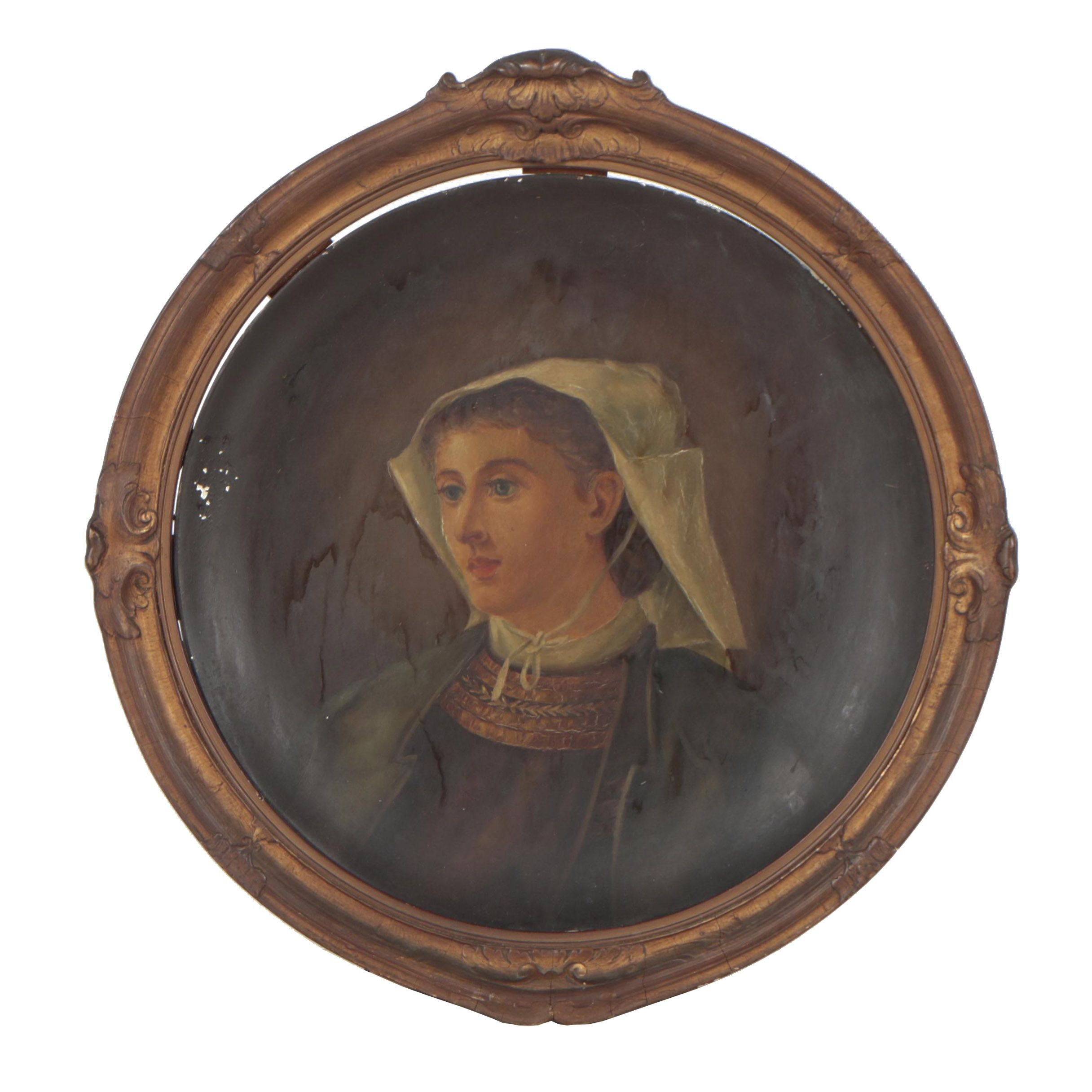 Late 19th Century Portrait Oil Painting