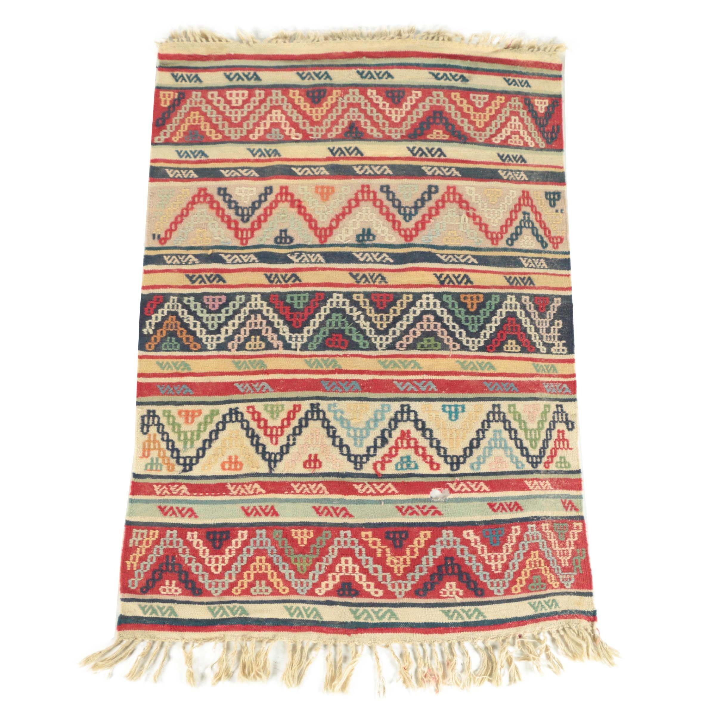 Handwoven Moroccan Zemmour Wool Kilim
