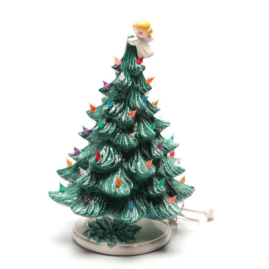 1981 ceramic light up christmas tree - Ceramic Light Up Christmas Tree