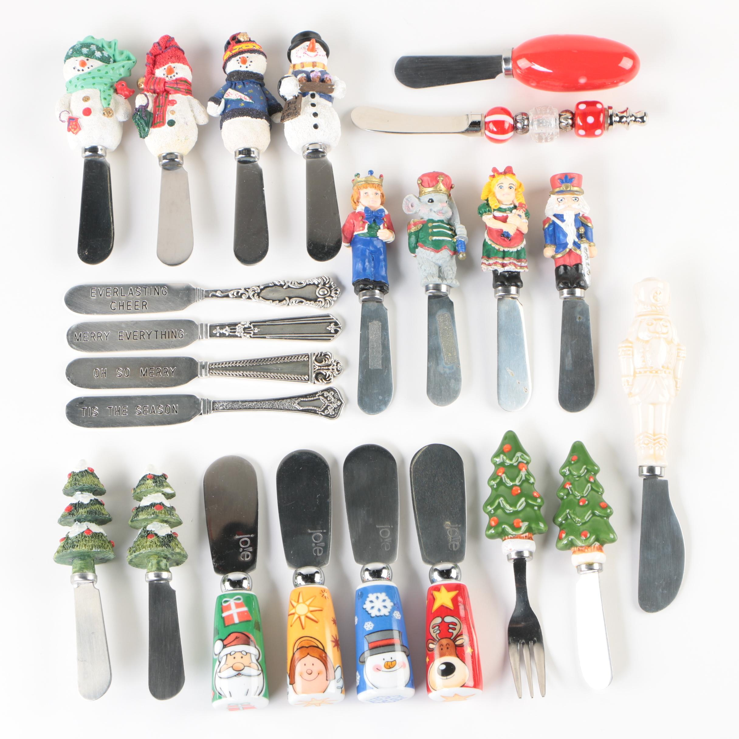 Christmas Themed Cheese Knives