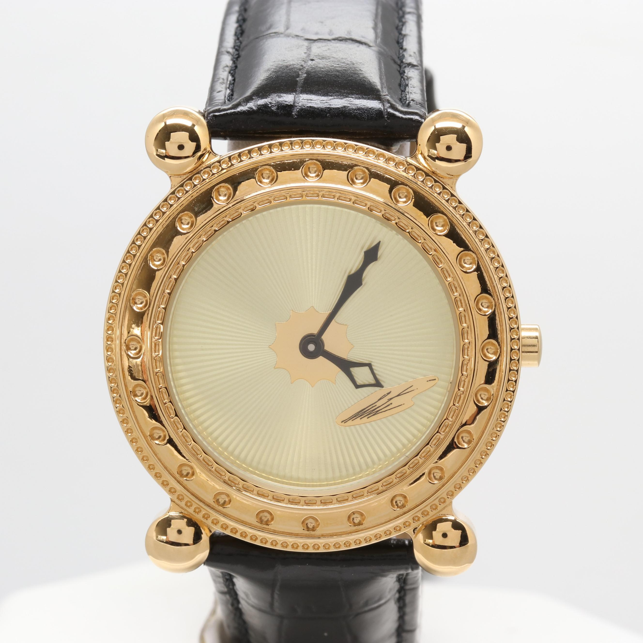 "Sevenarts LTD. ""Erté"" Gold Plated Stainless Steel Watch"