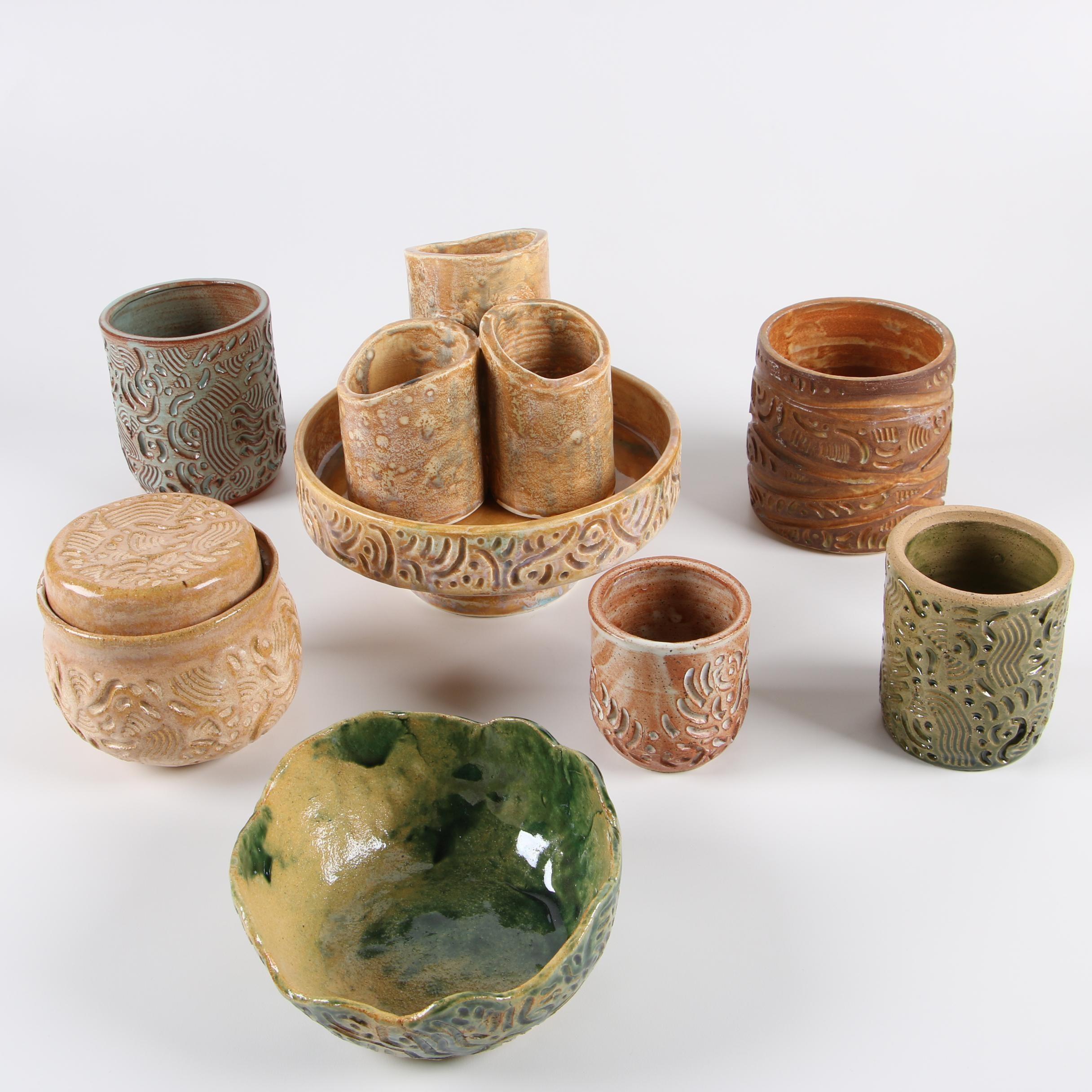 Frank Spink Wheel Thrown Stoneware Vessels