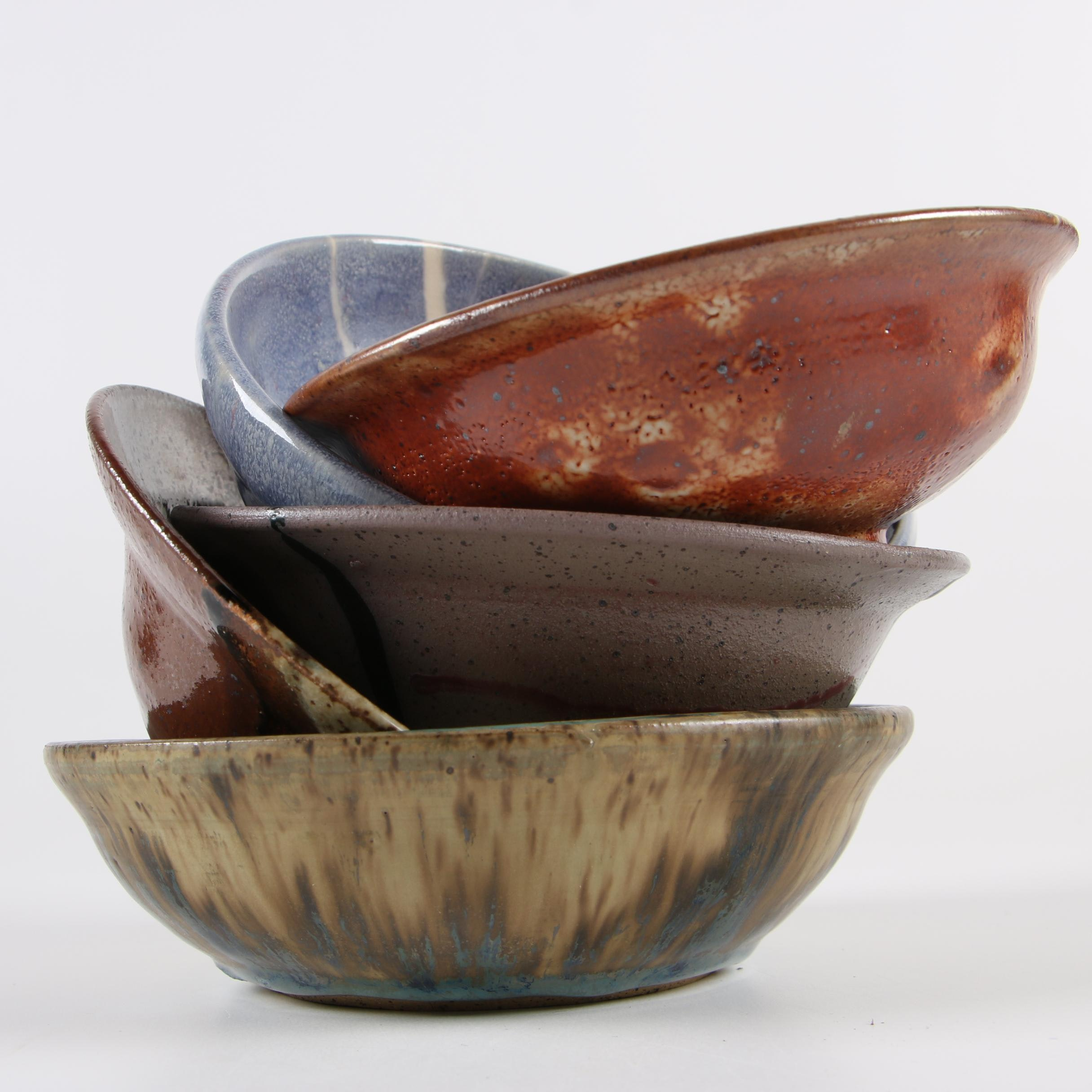 Frank Spink Wheel and Thrown Stoneware Bowls