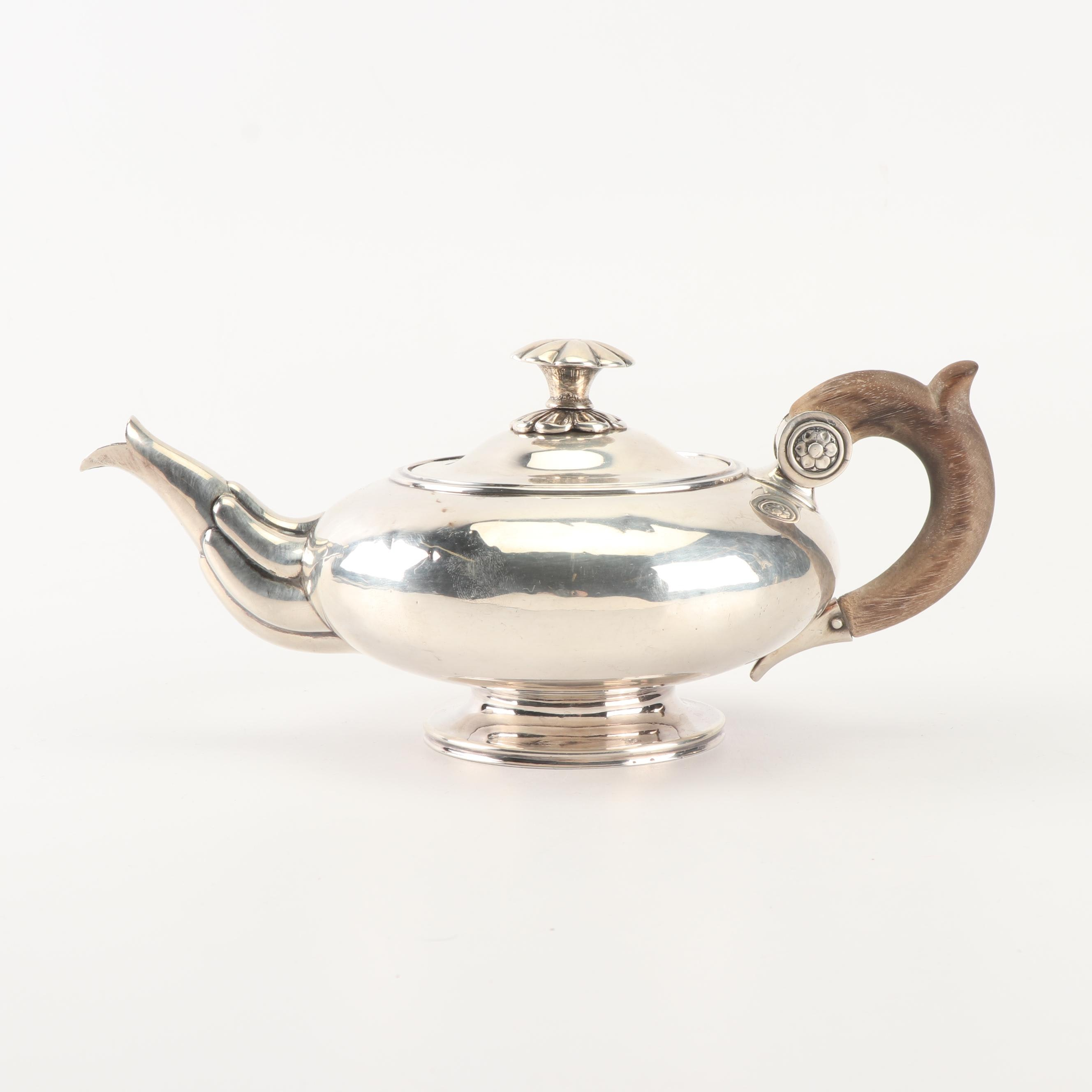 French Silver Teapot, Mark of Angenot & Cie, Paris, Late 19th Century