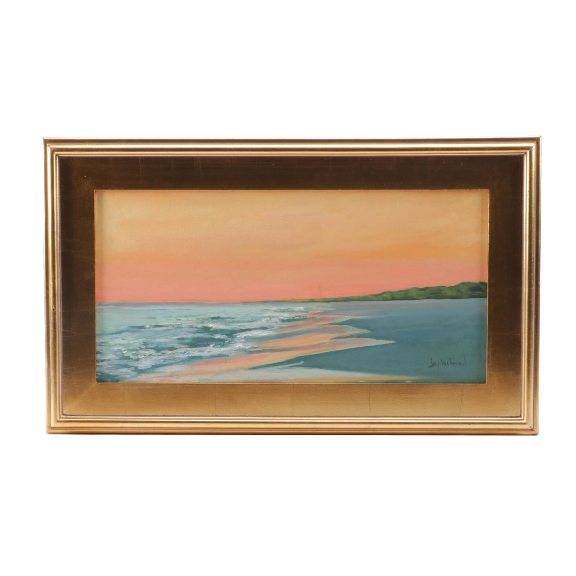 Jay Wilford Oil Painting of Beach Scene
